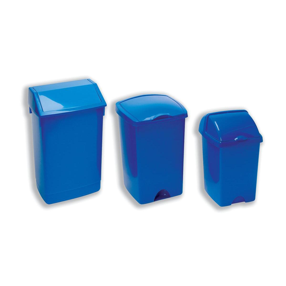 Flip Top Bin Composite Plastic 60 Litres Blue