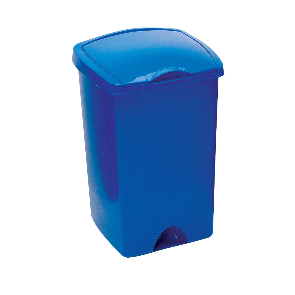 Image for Addis Lift Up Lid Bin Plastic 50 Litres Blue Ref 9715