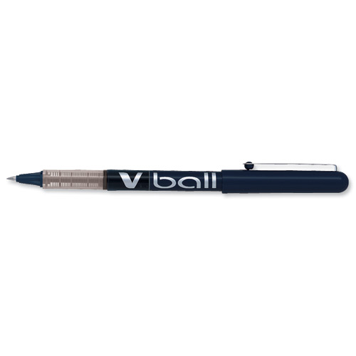 Pilot V-Ball VB5 Rollerball Pen Fine 0.5mm Tip 0.3mm Line Black Ref BLVB501 Pack 12