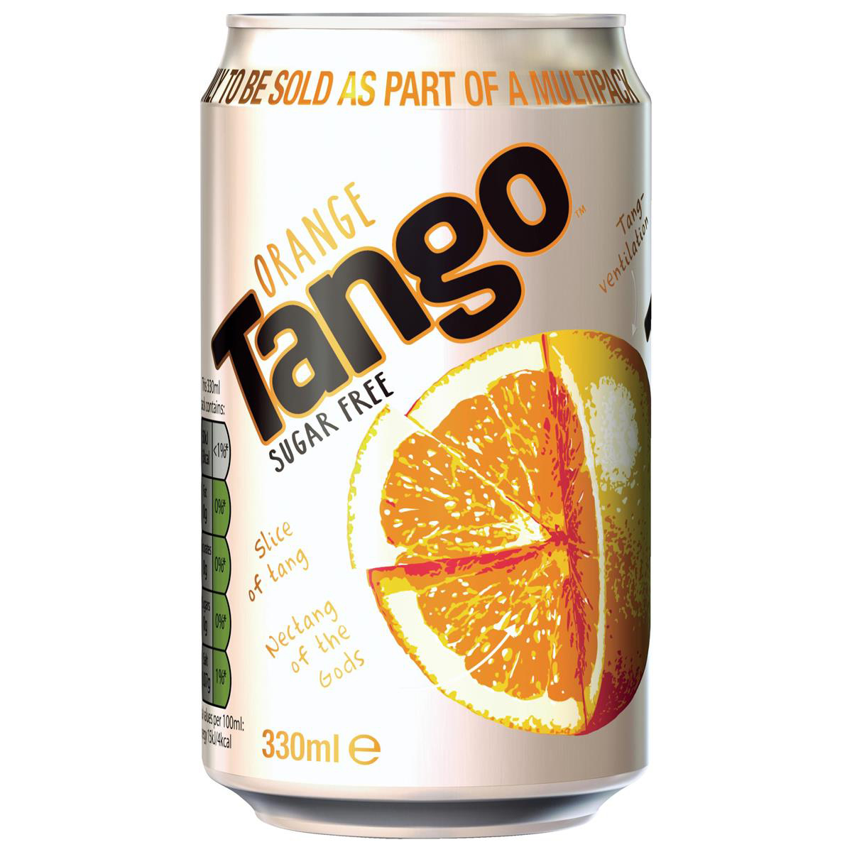Cold Drinks Tango Orange Sugar Free Soft Drink Can 330ml Ref 201751 Pack 24