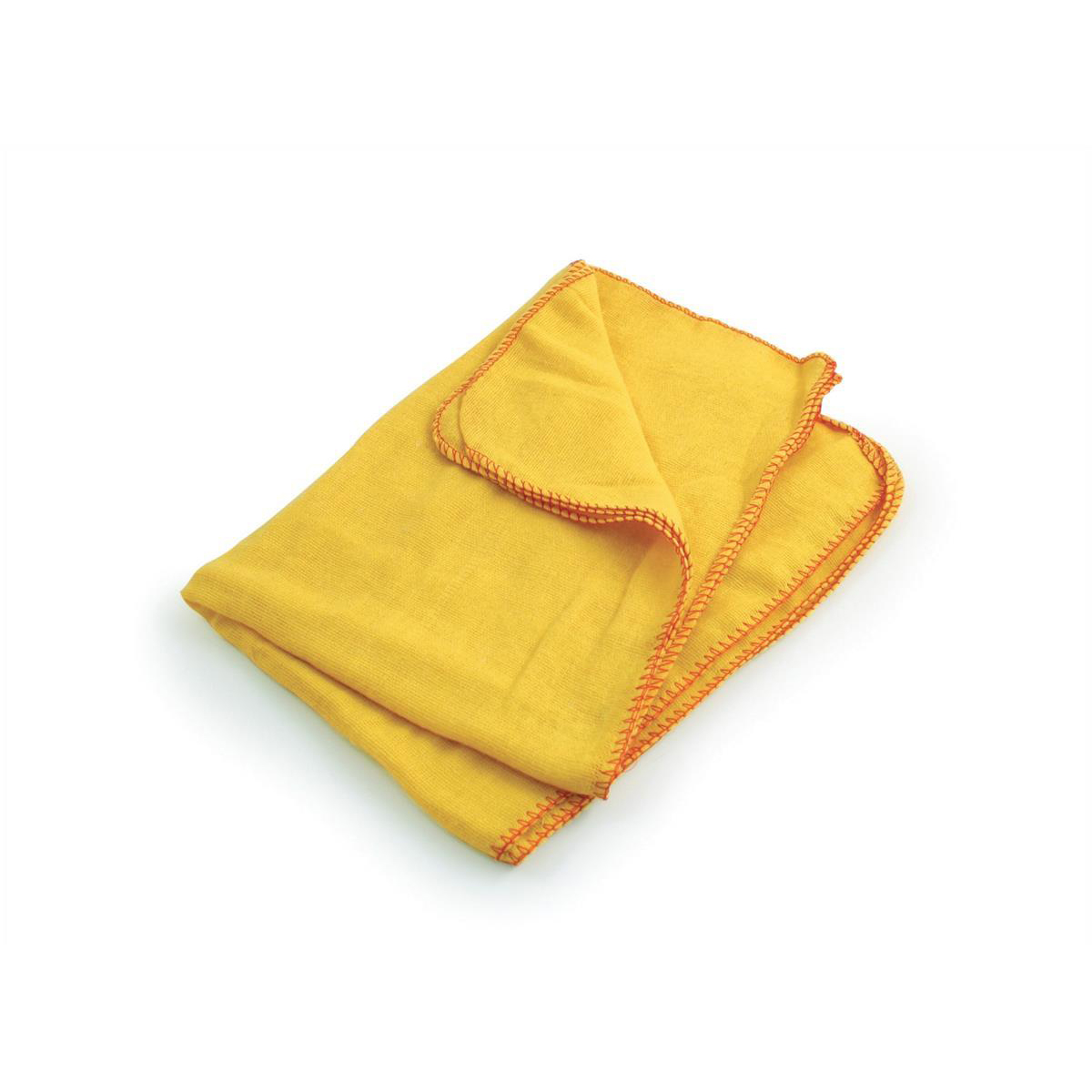5 Star Facilities Yellow Dusters 100% Cotton 350x350mm Pack 10