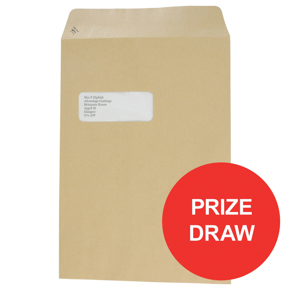 Basildon Bond Envelopes Pocket Peel and Seal Window 90gsm C4 324x229mm Manilla Ref A80192 Pack 250