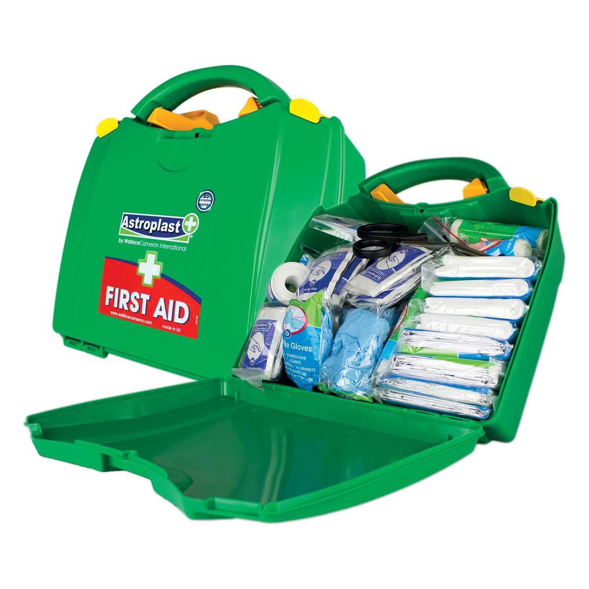Equipment Wallace Cameron Green Box HS1 First-Aid Kit Traditional 10 Person Ref 1002278