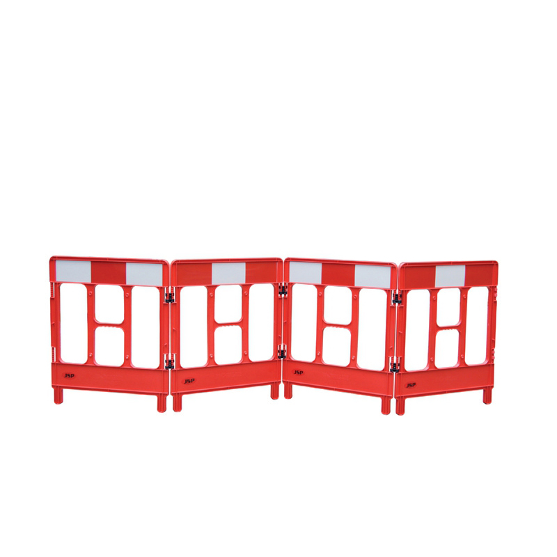 Safety signs Workgate 4 Gate Barrier System Lightweight Linking-clip Reflective Panel Red Ref KBC023-000-600