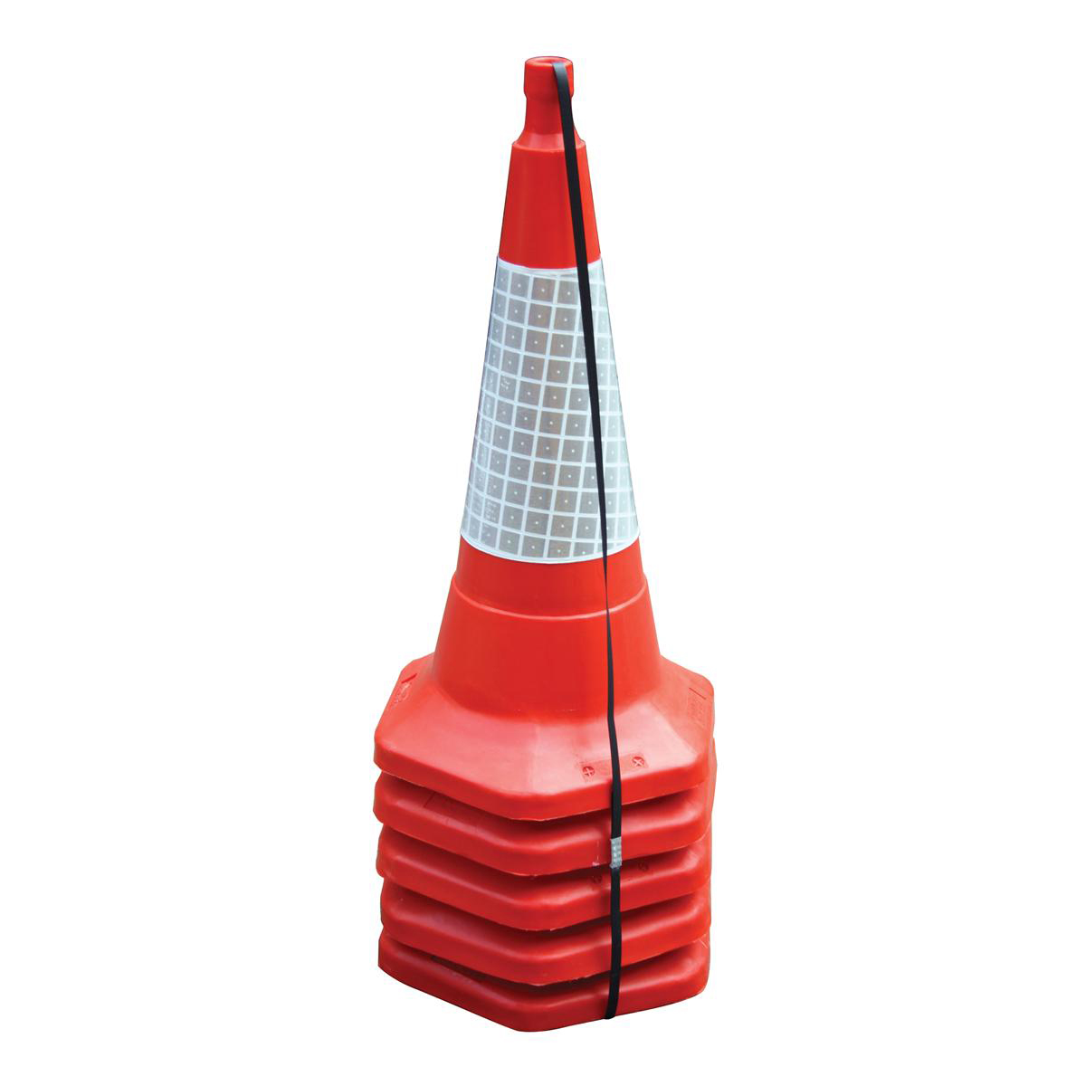 Traffic cones or delineators Safety Cone Standard One Piece H750mm with Sealbrite Sleeve Pack 5