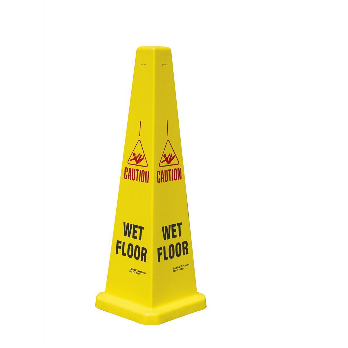 Collector Caution Cone for Wet Floors Stackable Height 900mm Ref JCP121-200-200