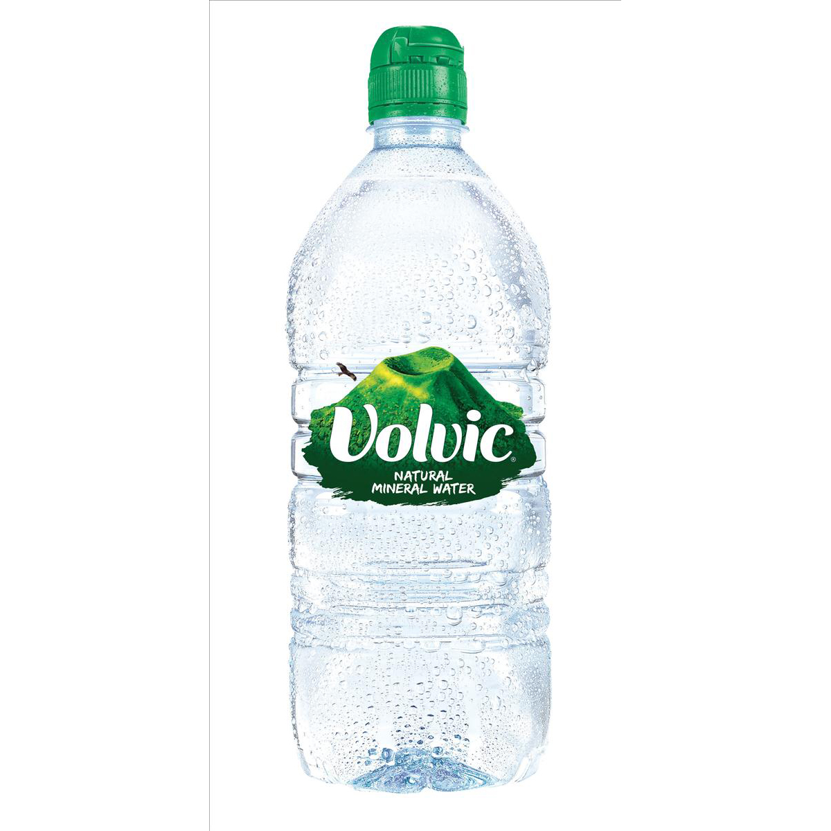 Volvic Go Natural Mineral Water Still Bottle Plastic with Sports Cap 1 Litre Ref EX-2-100 02205 [Pack 12]