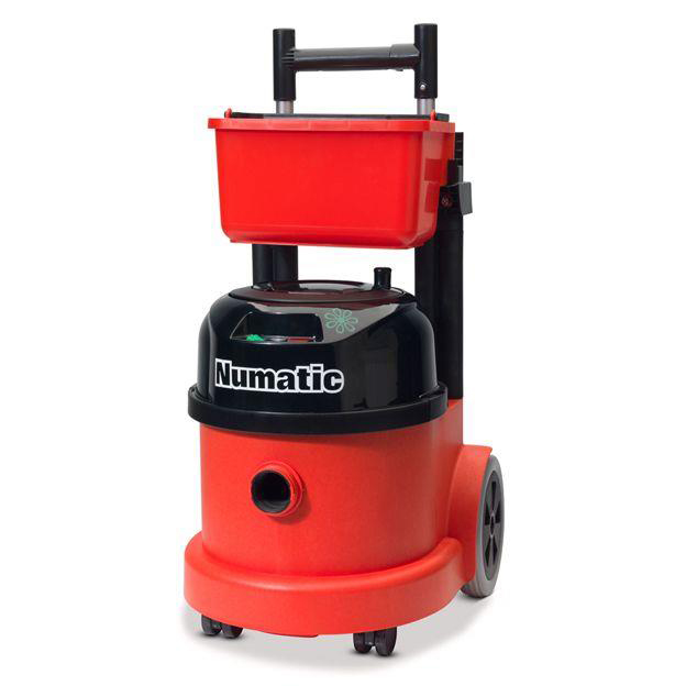 Numatic Pro Vacuum Cleaner PPT390 Hepaflo-filtration Retractable Handle Trolley Ref PPT390B2