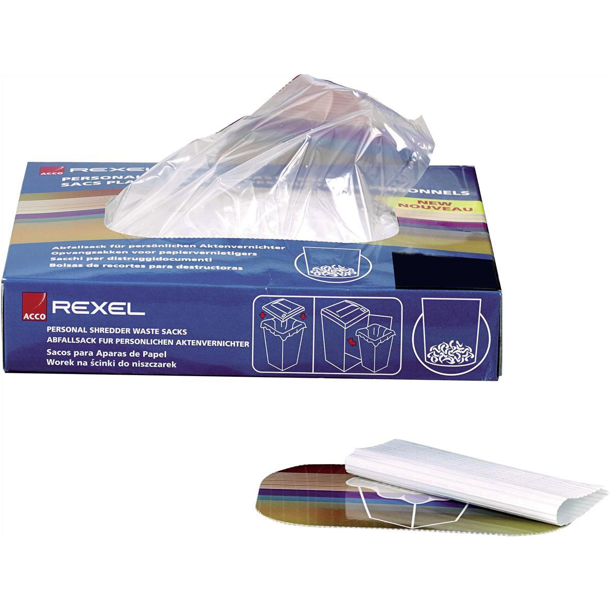 Bags / Sacks Rexel Wide Entry Shredder Waste Sacks 200 Litres Ref 40014 Pack 50