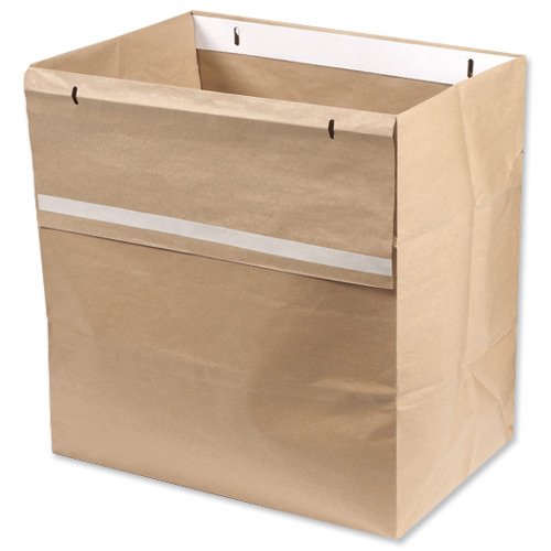 Rexel Wide Entry Shredder Waste Sacks 200 Litres Ref 40014 Pack 50