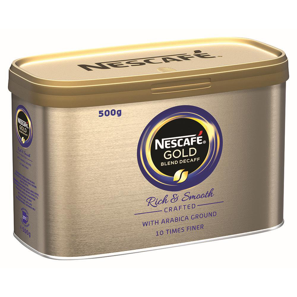 Image for Nescafe Gold Blend Instant Coffee Decaffeinated Tin 500g Ref 12339242