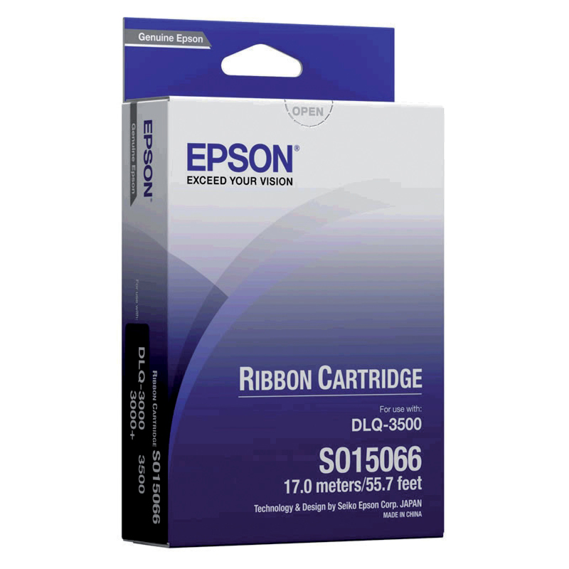 Epson Printer Ribbon Fabric Nylon Black for DLQ3000 Ref S015066