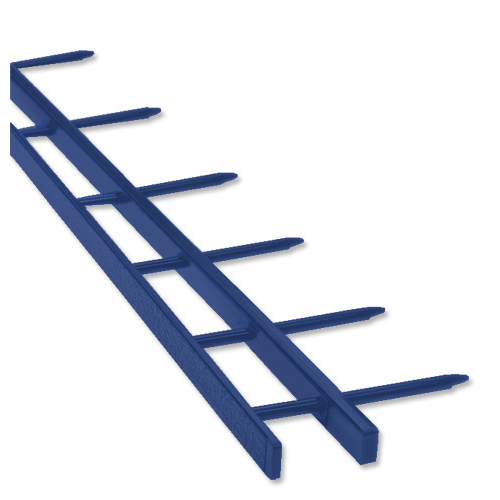 GBC SureBind Secure Binding Strips 25mm 10 Prongs Bind 250 Sheets A4 Blue Ref 1132845 [Pack 100]