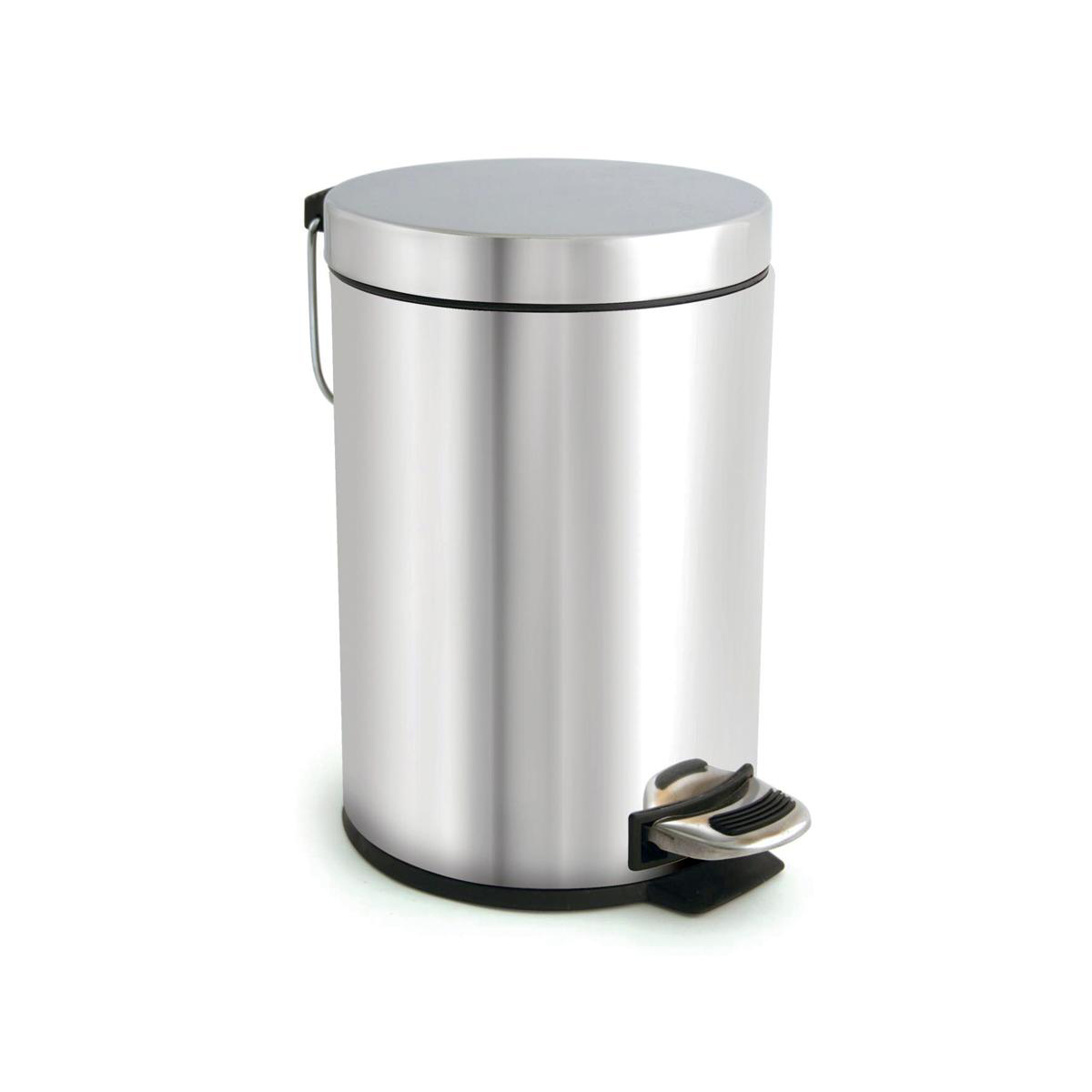 Metallic bins Pedal Bin with Removable Inner Bucket 3 Litre Stainless Steel