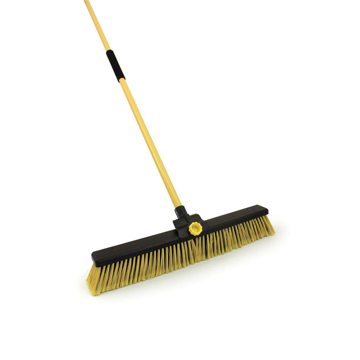 Mops & Buckets Bentley Broom Bulldozer Dual Purpose Soft/Stiff PVC Yard Broom & Metal Handle 24inch Ref SPC/HQ16