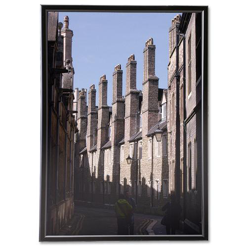 5 Star Facilities Snap Frame with Non-glass Polystyrene Front Back-loading A3 307x17x430mm Black