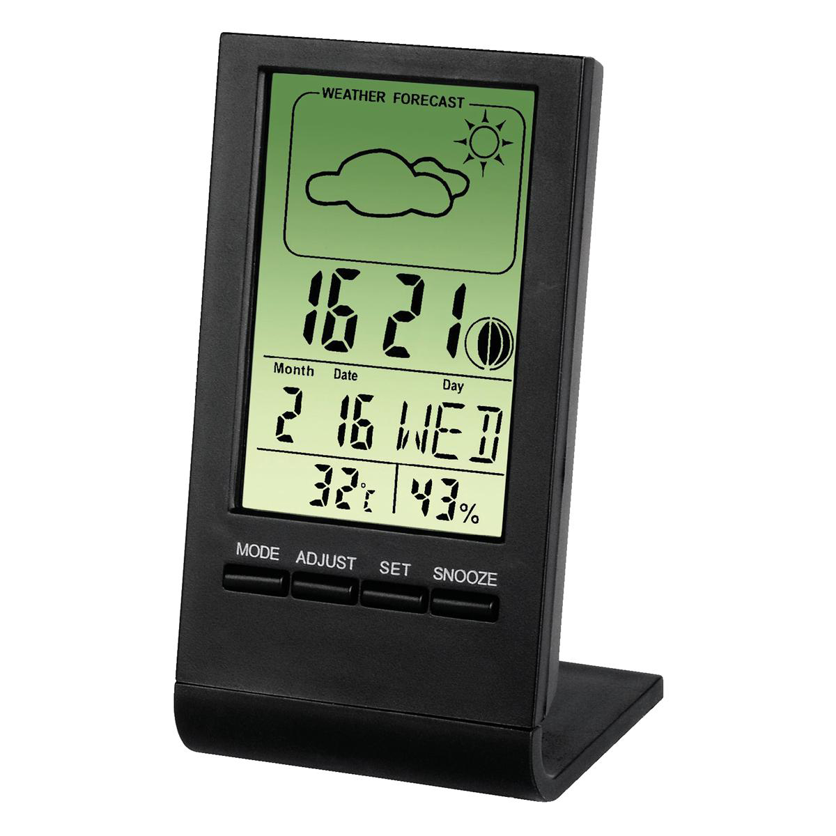 Thermometer/Hygrometer LCD Digital Display Weather Station Black