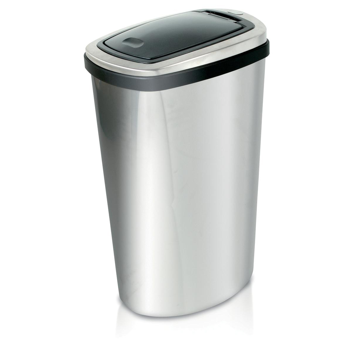 Press Top Bin Rectangular with Inner Liner 40 Litre Stainless Steel