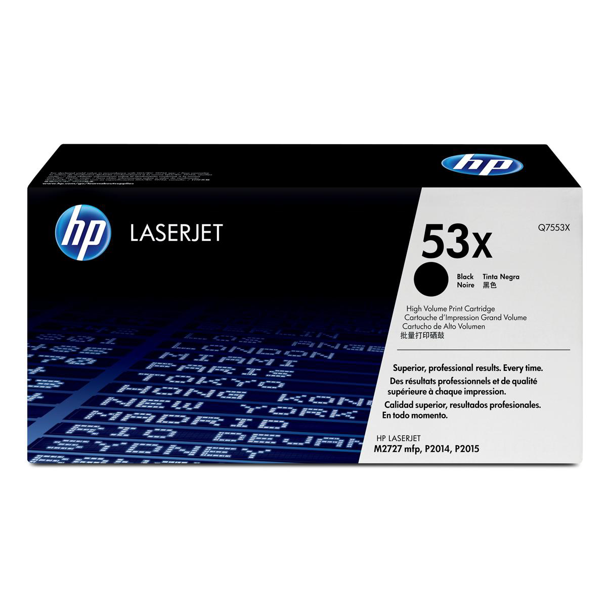 Hewlett Packard [HP] No. 53X Laser Toner Cartridge Page Life 7000pp Black Ref Q7553X