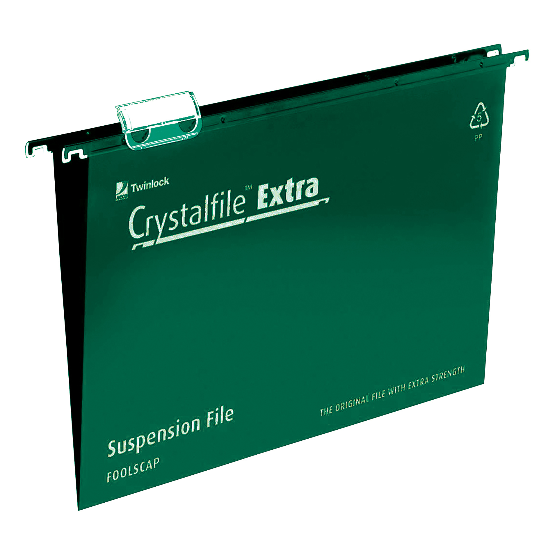Suspension File Rexel Crystalfile Extra Suspension File Polypropylene 15mm V-base A4 Green Ref 70634 Pack 25