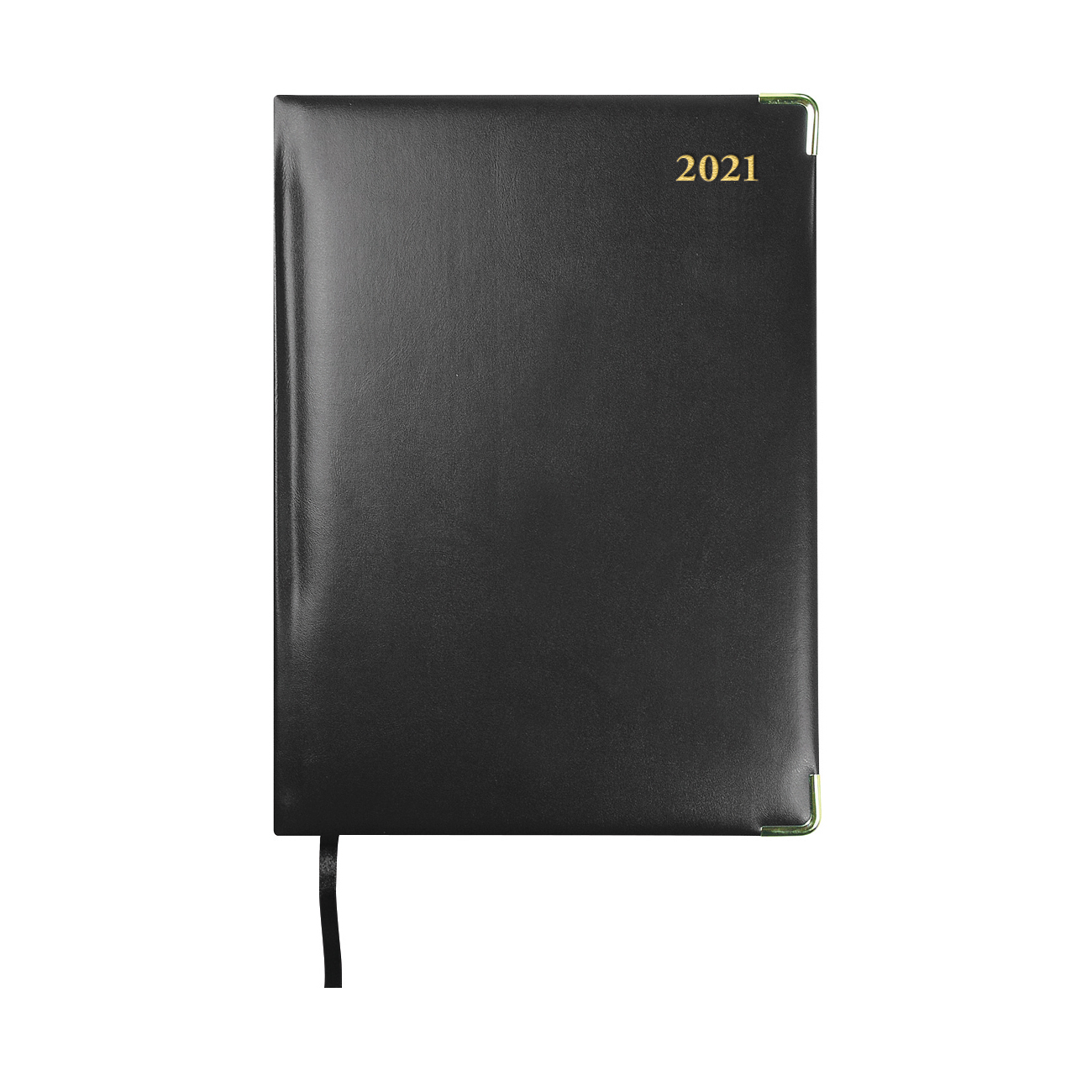 Collins 2021 Classic Compact Desk Diary Day to Page Sewn Binding 210x148mm Black Ref 1250V 2021