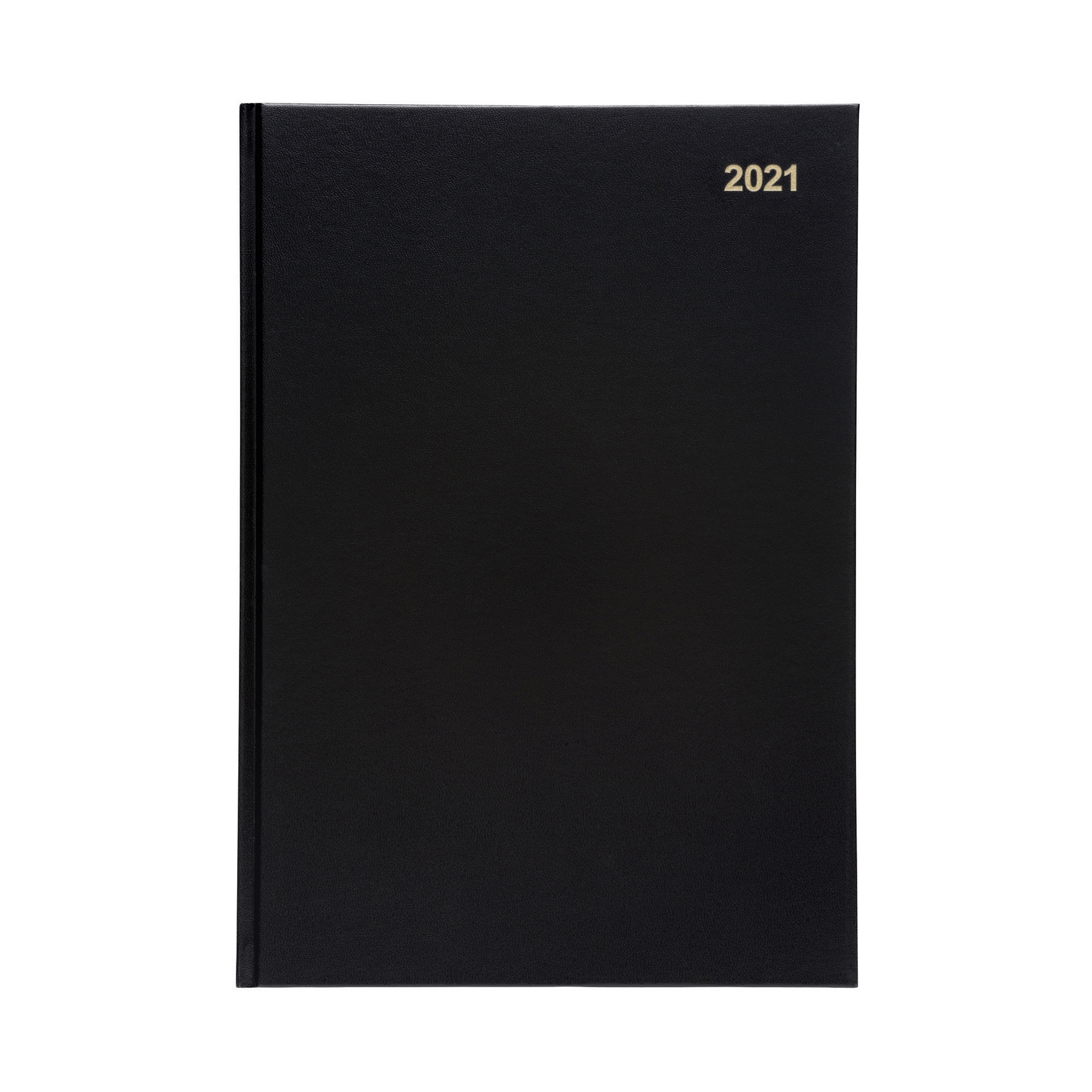 Diaries 5 Star Office 2021 Diary Two Days to Page Casebound and Sewn Vinyl Coated Board A4 297x210mm Black