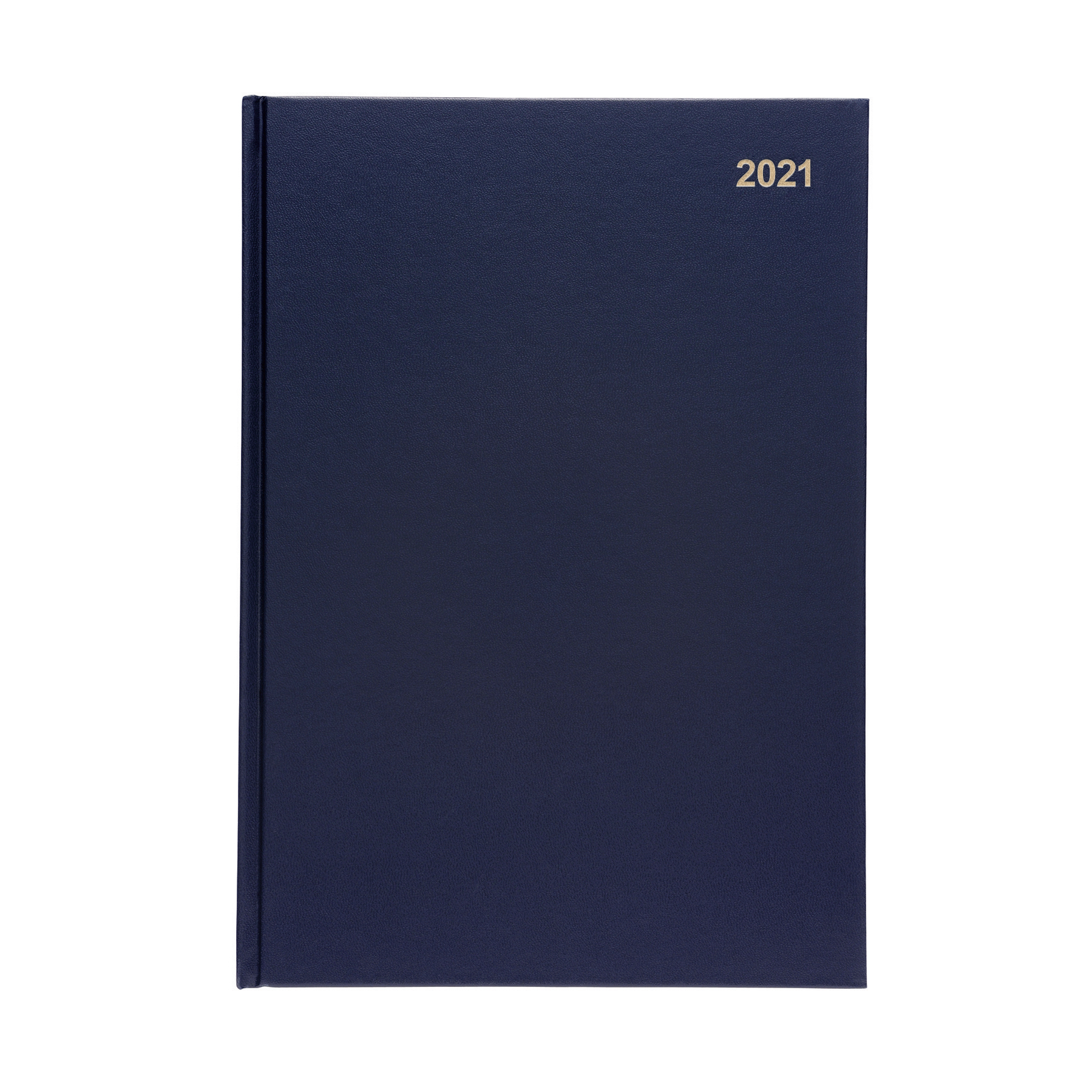 Diaries 5 Star Office 2021 Diary Day to Page Casebound and Sewn Vinyl Coated Board A4 297x210mm Blue