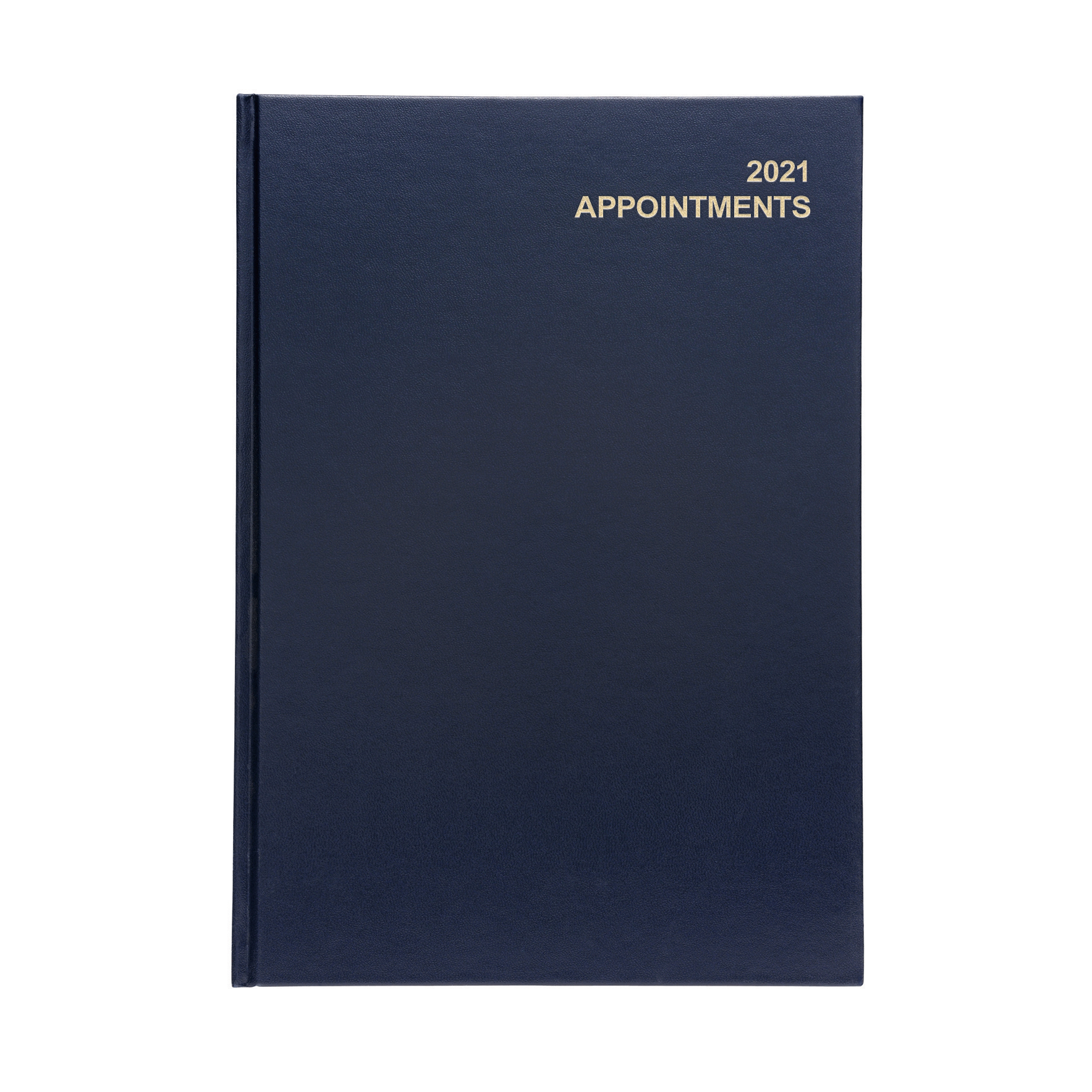 5 Star Office 2021 Appt Diary Day to Page Casebound and SewnVinyl CoatedBoard A4 297x210mm Blu Ref 167910
