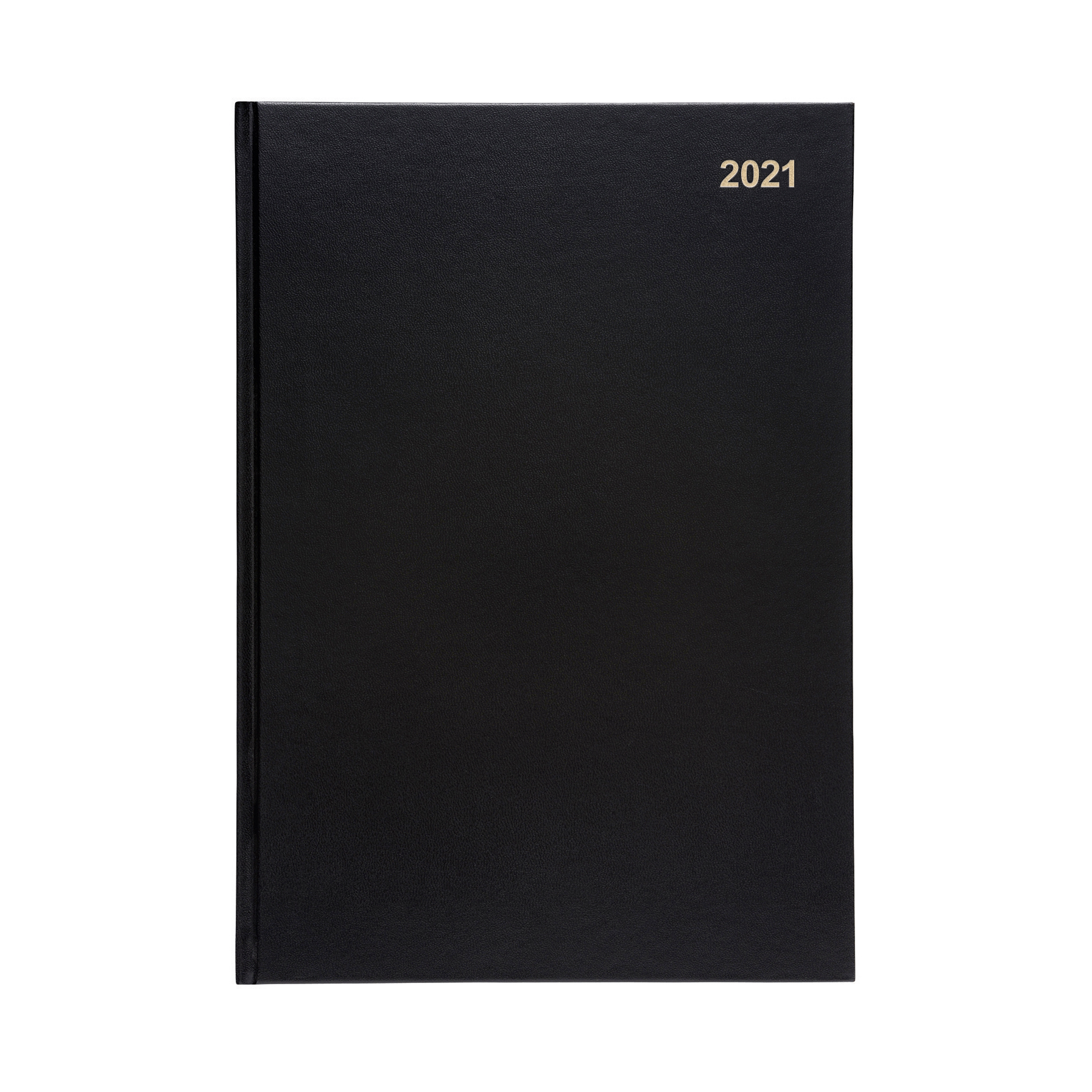Diaries or refills 5 Star Office 2021 Diary Week to View Casebound and Sewn Vinyl Coated Board A4 297x210mm Black