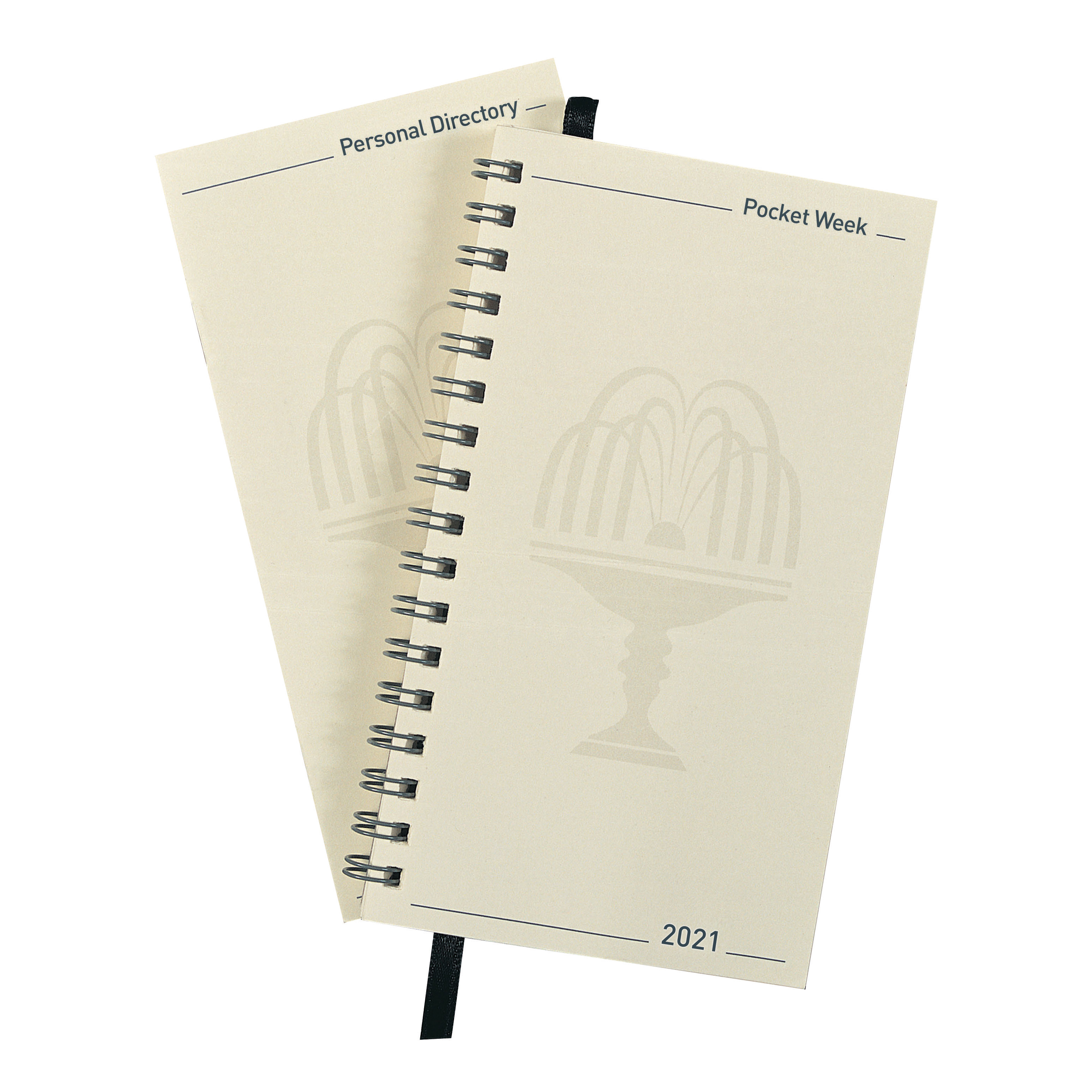 Diaries Collins 2021 Elite Pocket Organiser Refill Week to View Wirobound 85x153mm Black Ref 1165R 2021