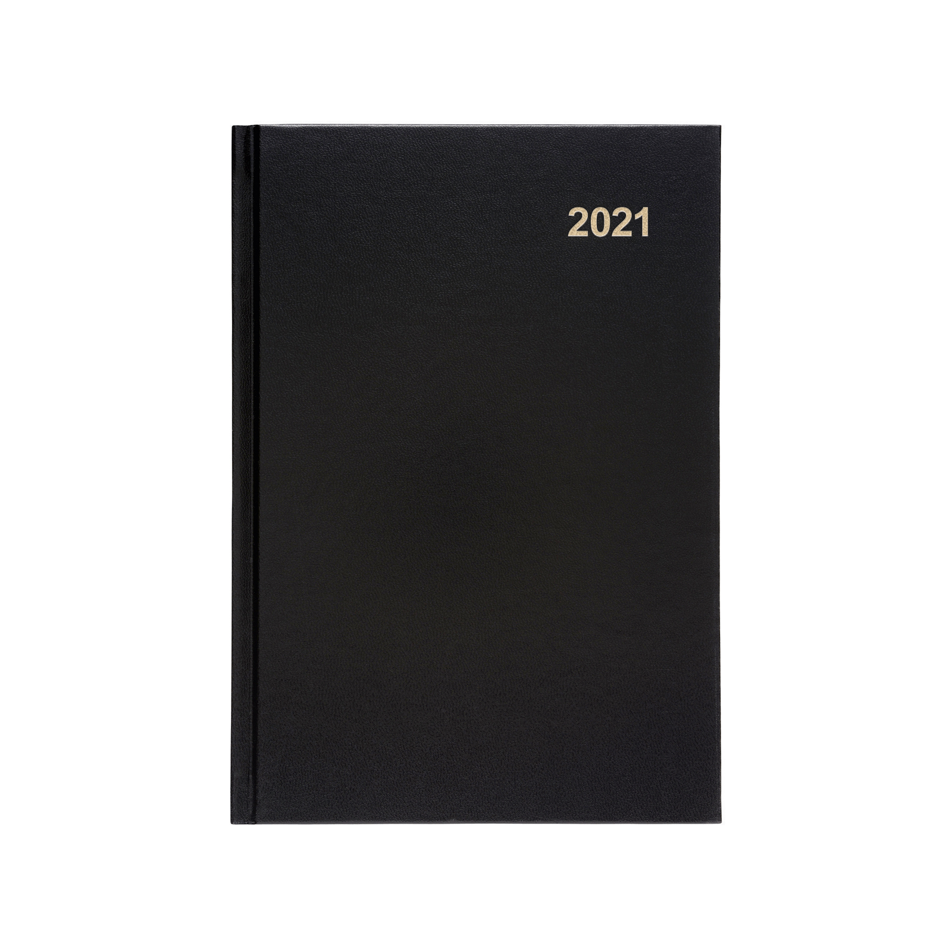 Diaries or refills 5 Star Office 2021 Diary Two Days to Page Casebound and Sewn Vinyl Coated Board A5 210x148mm Black Ref