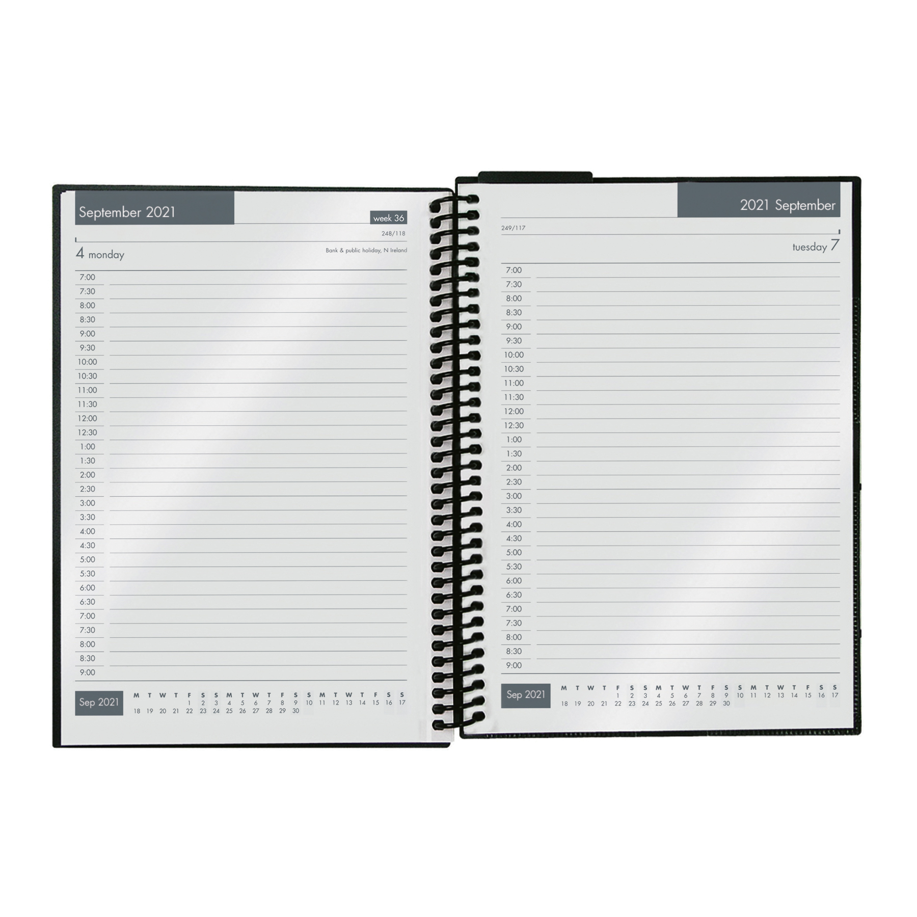 Diaries Collins 2020/21 Academic Diary Day-to-Page A5 Blue Ref FP51M.60-2021