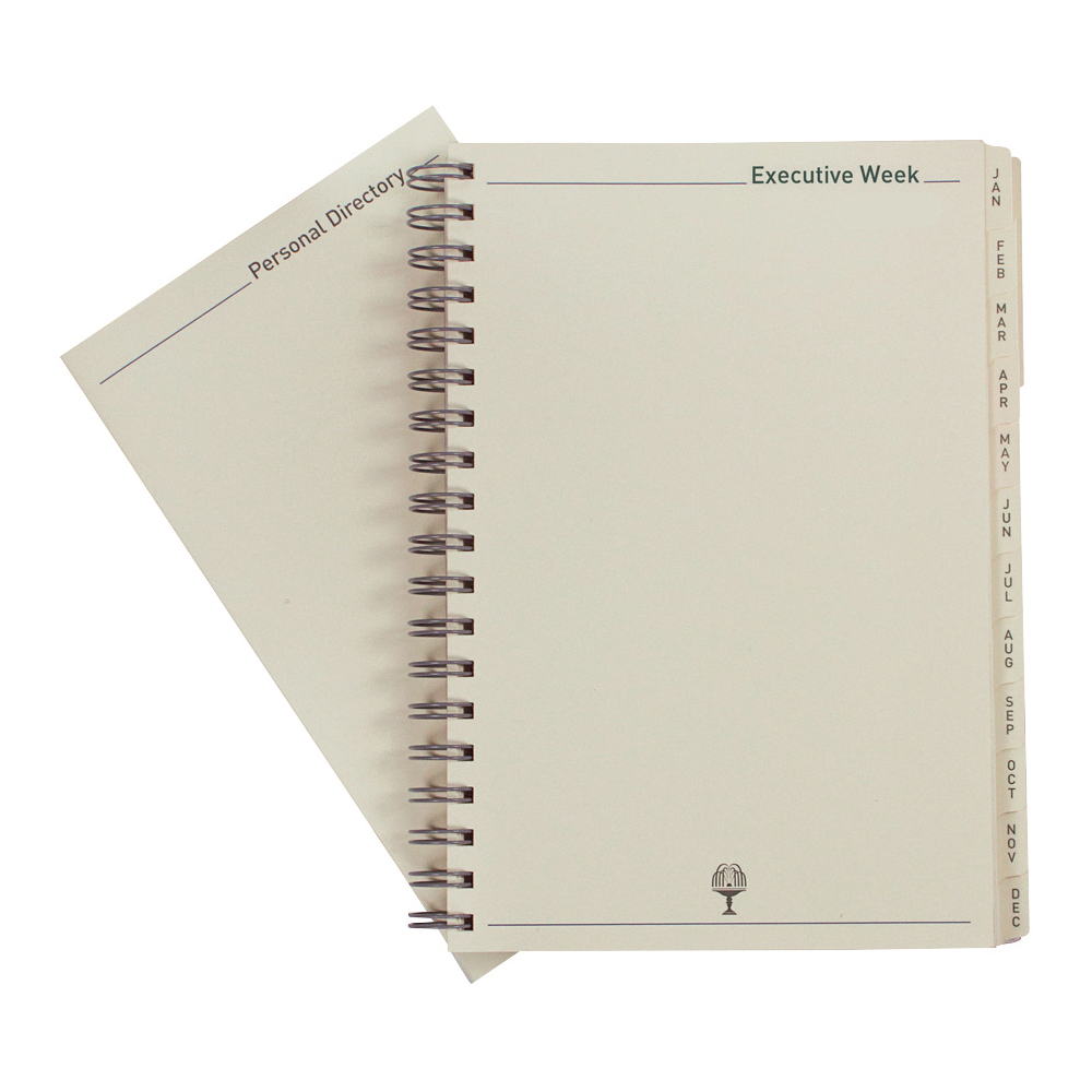 Collins 2021 Elite Executive Diary Refill Week to View Wirobound 164x246mm Black Ref 1130R 2021