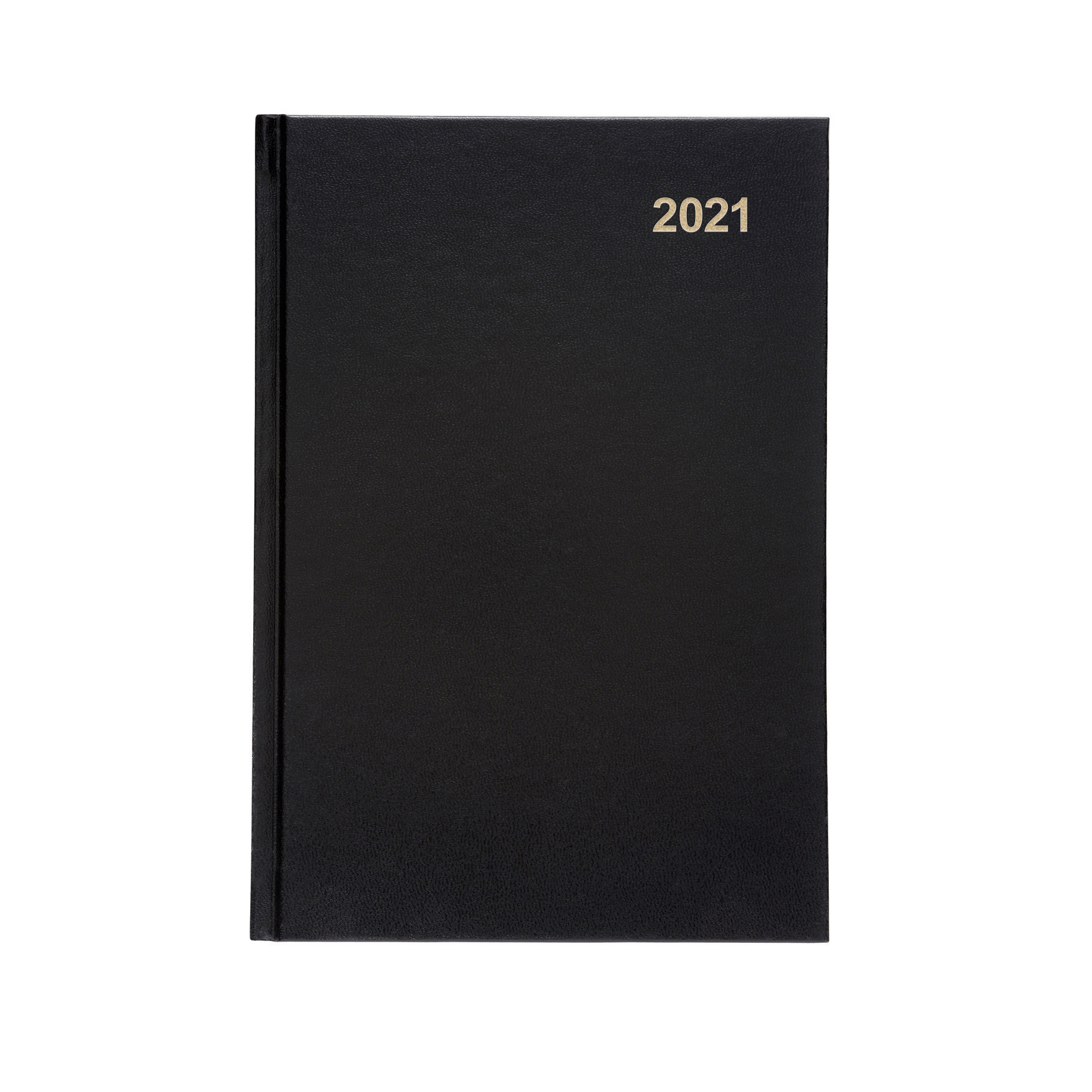 Diaries or refills 5 Star Office 2021 Diary Day to Page Casebound and Sewn Vinyl Coated Board A5 210x148mm Black
