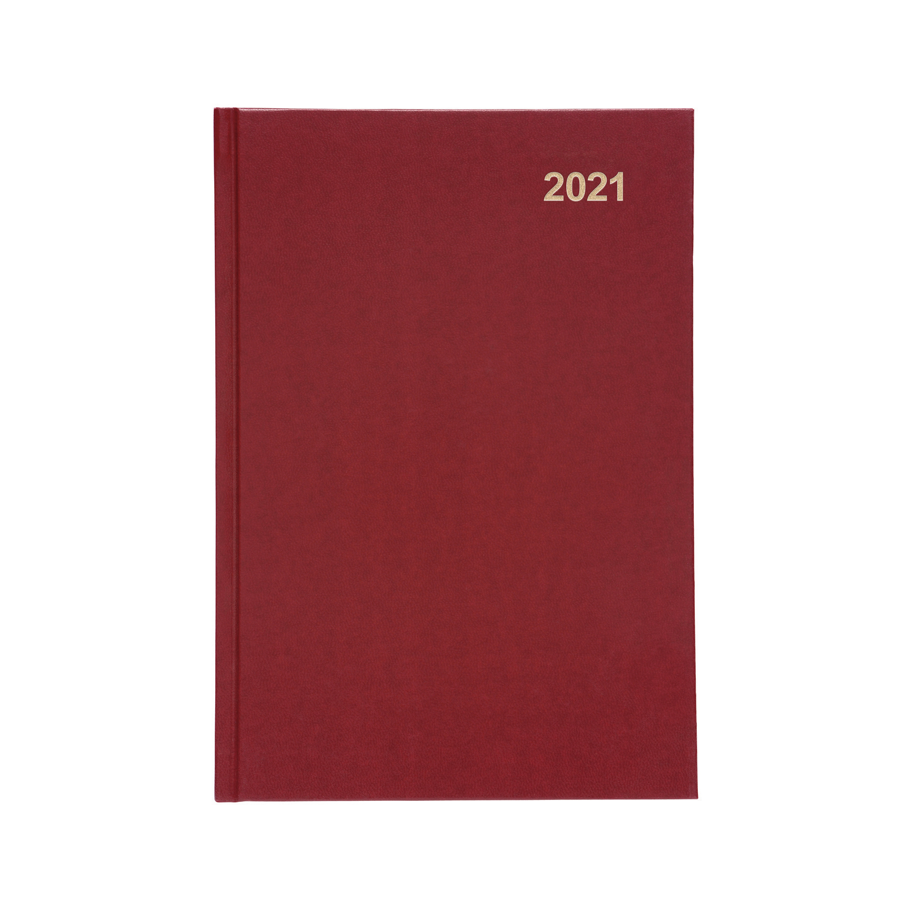 Diaries or refills 5 Star Office 2021 Diary Day to Page Casebound and Sewn Vinyl Coated Board A5 210x148mm Red