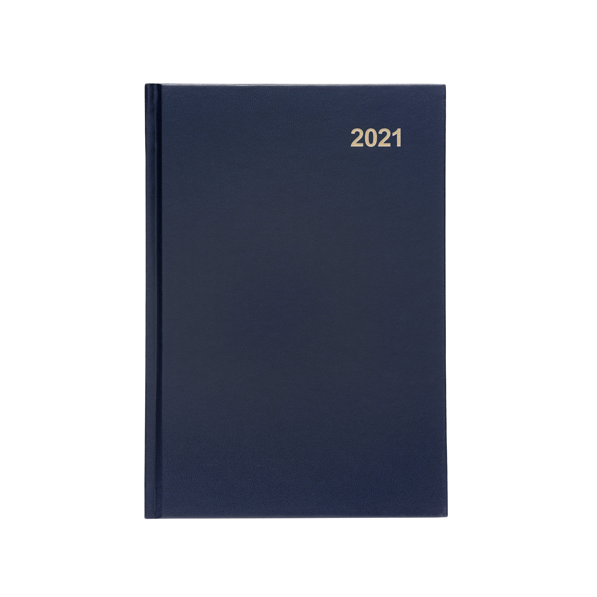 Diaries or refills 5 Star Office 2021 Diary Week to View Casebound and Sewn Vinyl Coated Board A5 210x148mm Blue