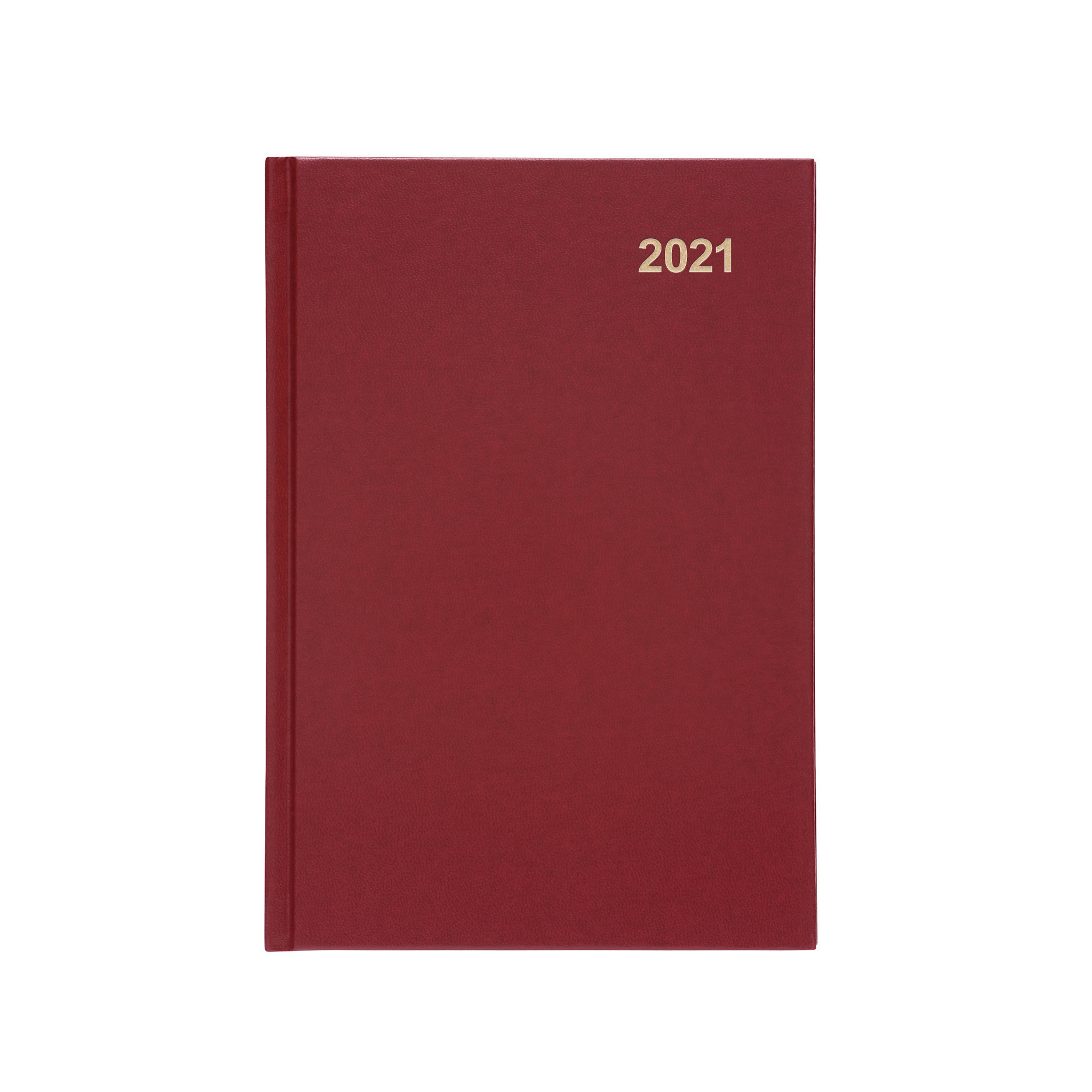 Diaries or refills 5 Star Office 2021 Diary Week to View Casebound and Sewn Vinyl Coated Board A5 210x148mm Red