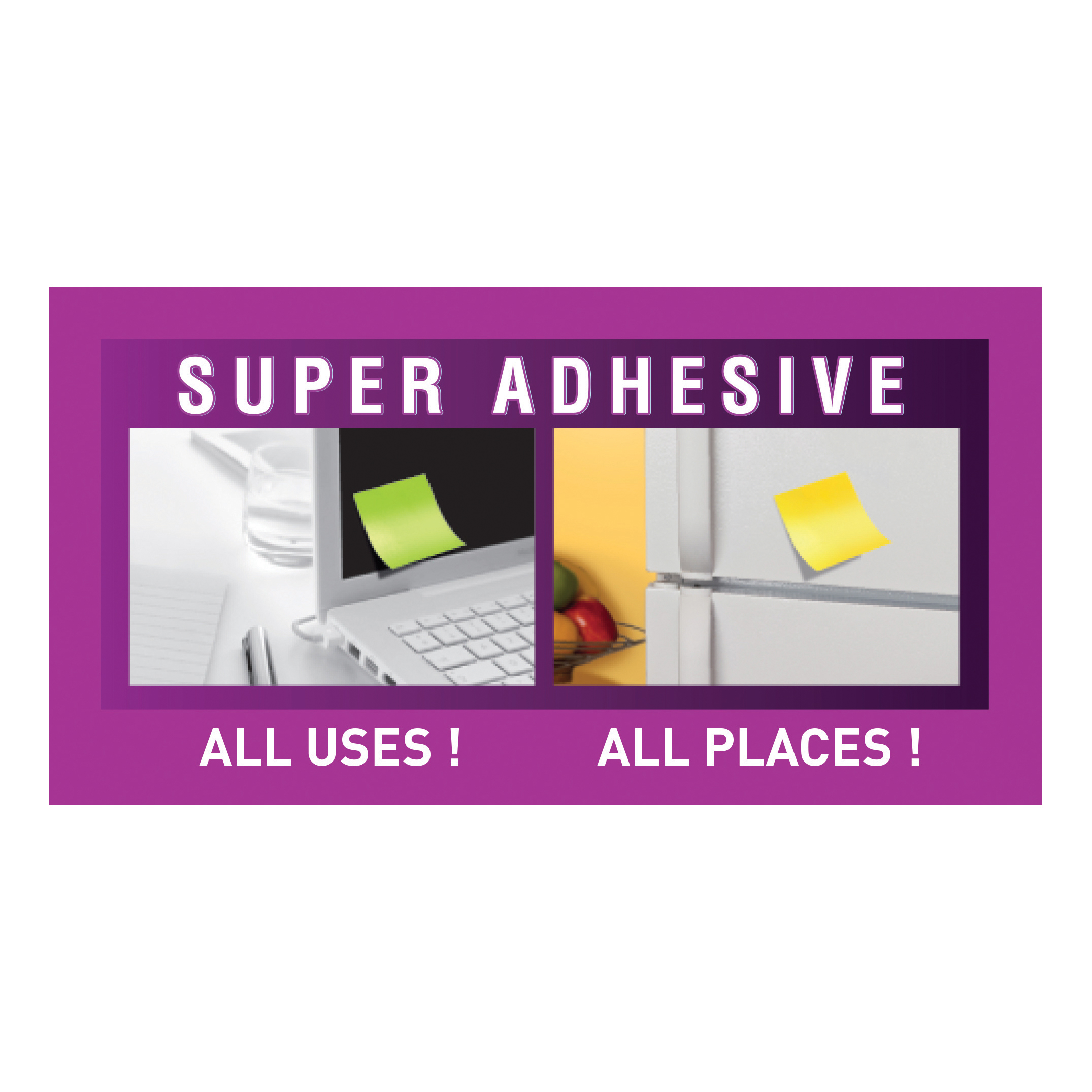 Post-It Super Sticky Notes Miami 51x51mm Aqua Neon Green Pink Ref 622-12SS-MIA [Pack 12]