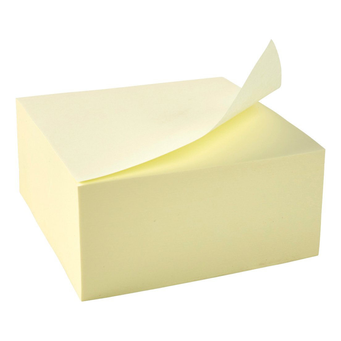 Coloured 5 Star Office Re-Move Notes Cube Pad of 400 Sheets 76x76mm Yellow