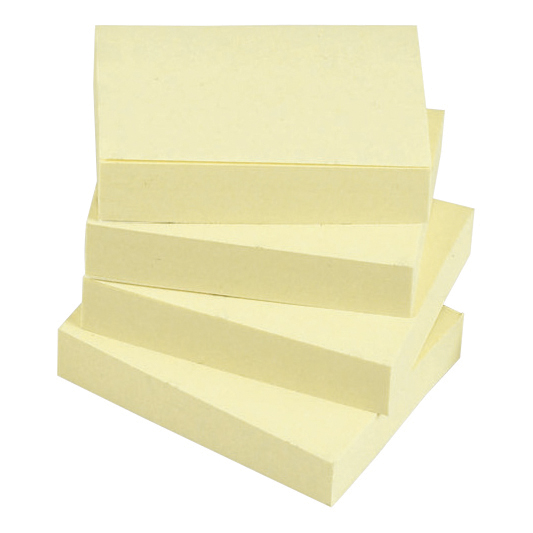 Yellow 5 Star Office Re-Move Notes Repositionable Pad of 100 Sheets 38x51mm Yellow [Pack 12]