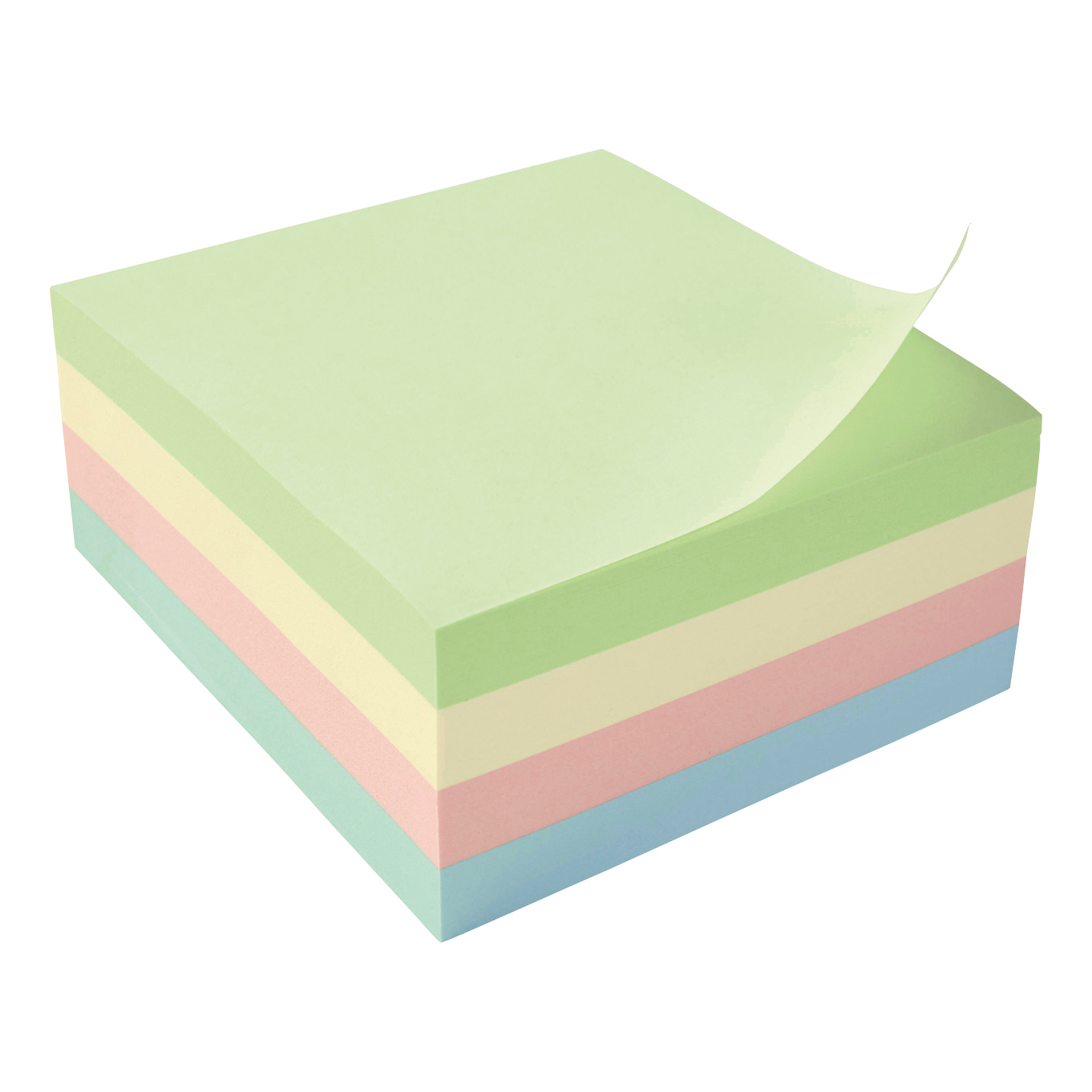Coloured 5 Star Office Re-Move Notes Cube Pad of 400 Sheets 76x76mm Pastel Rainbow
