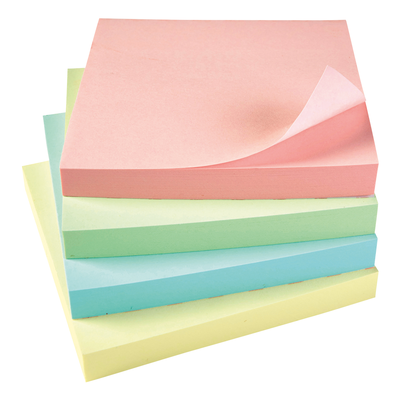 Coloured 5 Star Office Re-Move Notes Repositionable Pastel Pad of 100 Sheets 76x76mm Assorted Pack 12