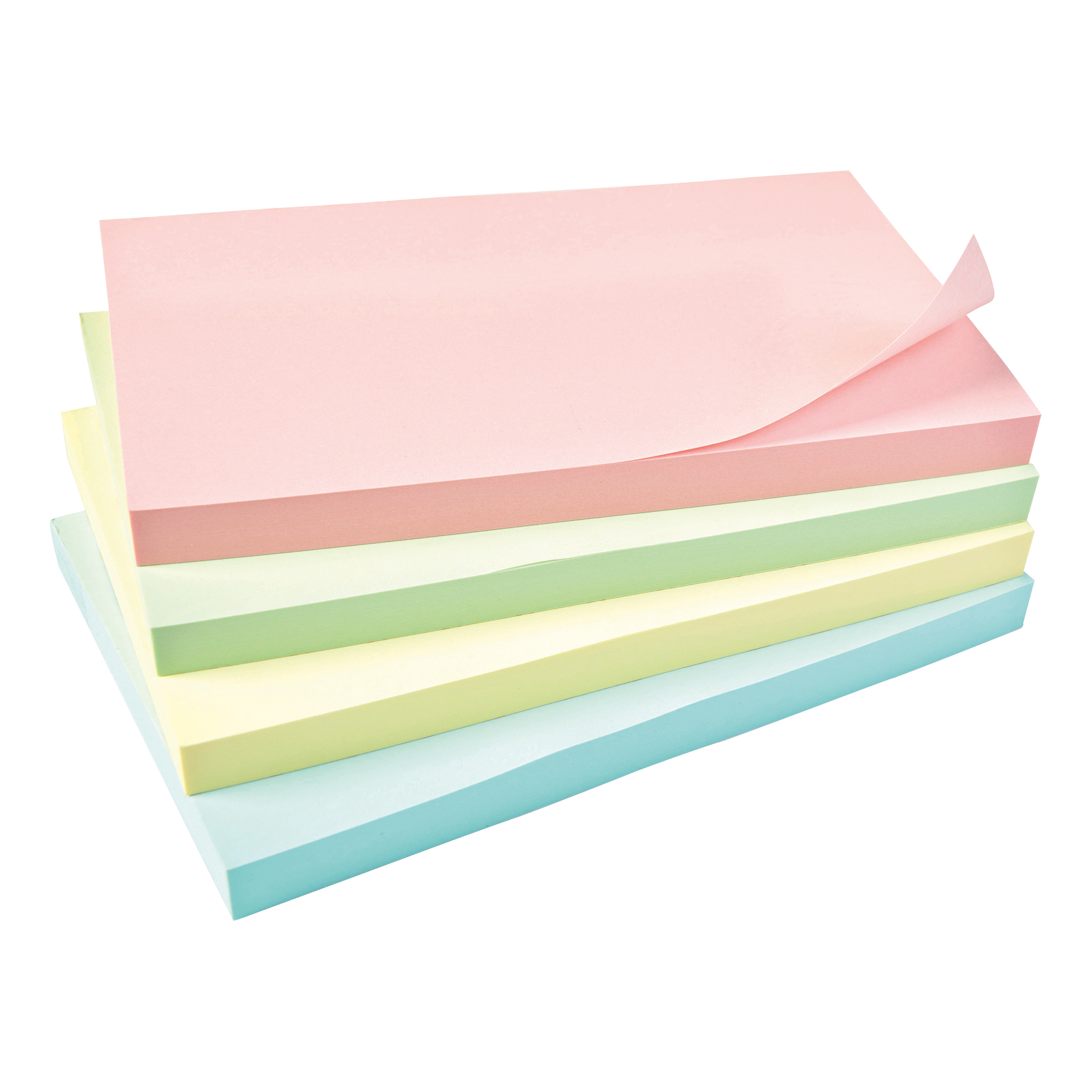 5 Star Office Re-Move Notes Repositionable Pastel Pad of 100 Sheets 76x127mm Assorted [Pack 12]