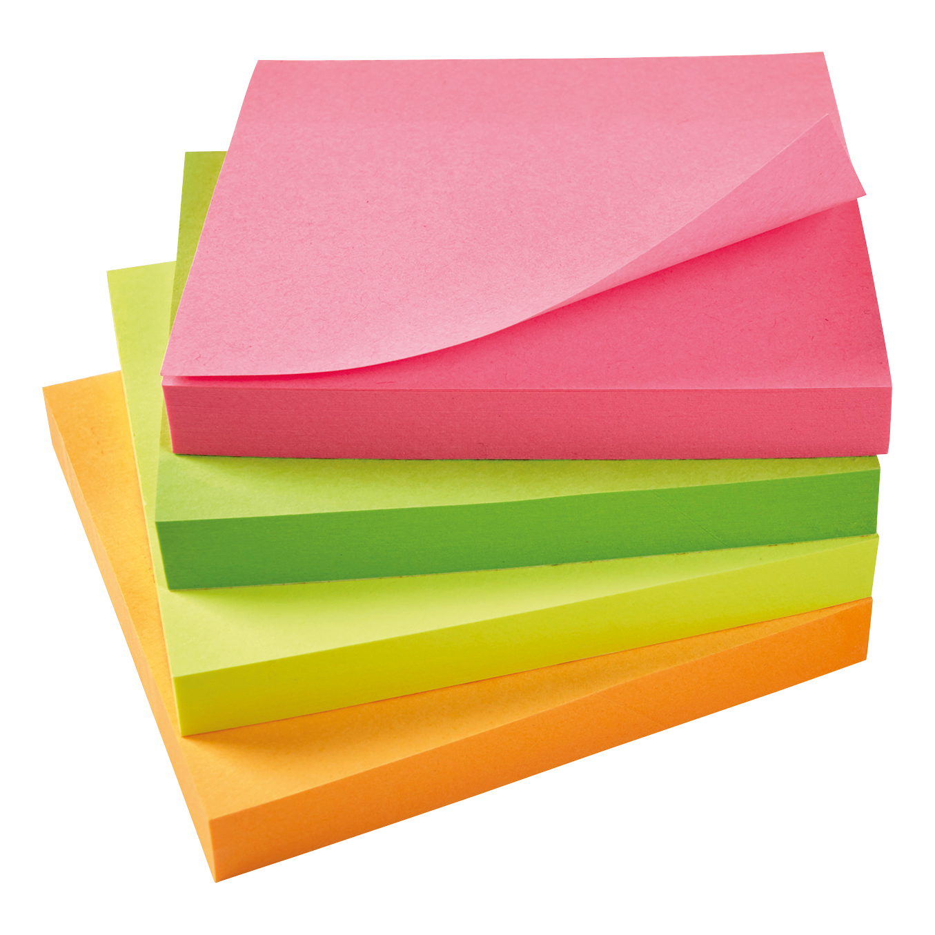 Coloured 5 Star Office Re-Move Notes Repositionable Neon Pad of 100 Sheets 76x76mm Assorted Pack 12