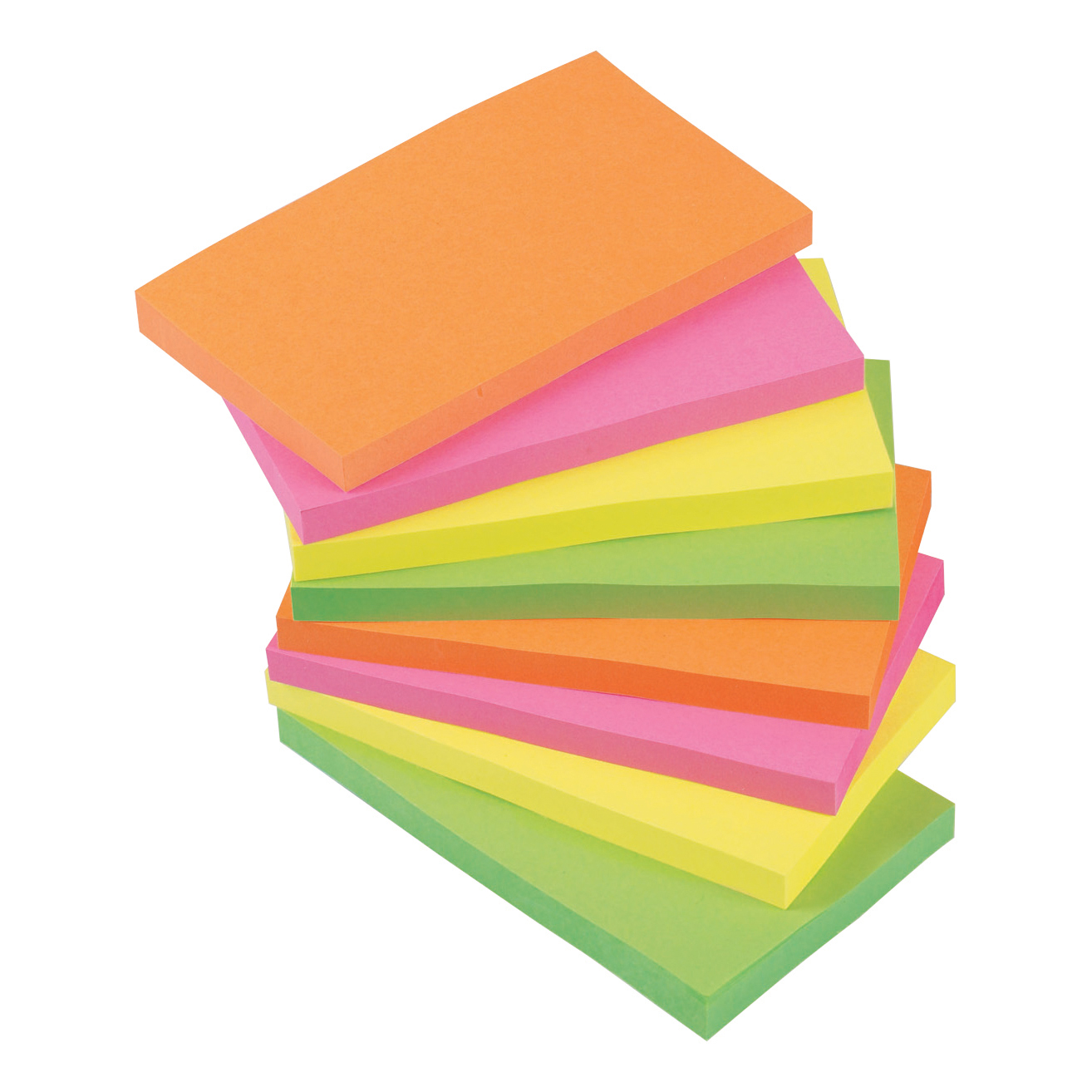 Coloured 5 Star Office Re-Move Notes Repositionable Neon Pad of 100 Sheets 76x127mm Assorted [Pack 12]