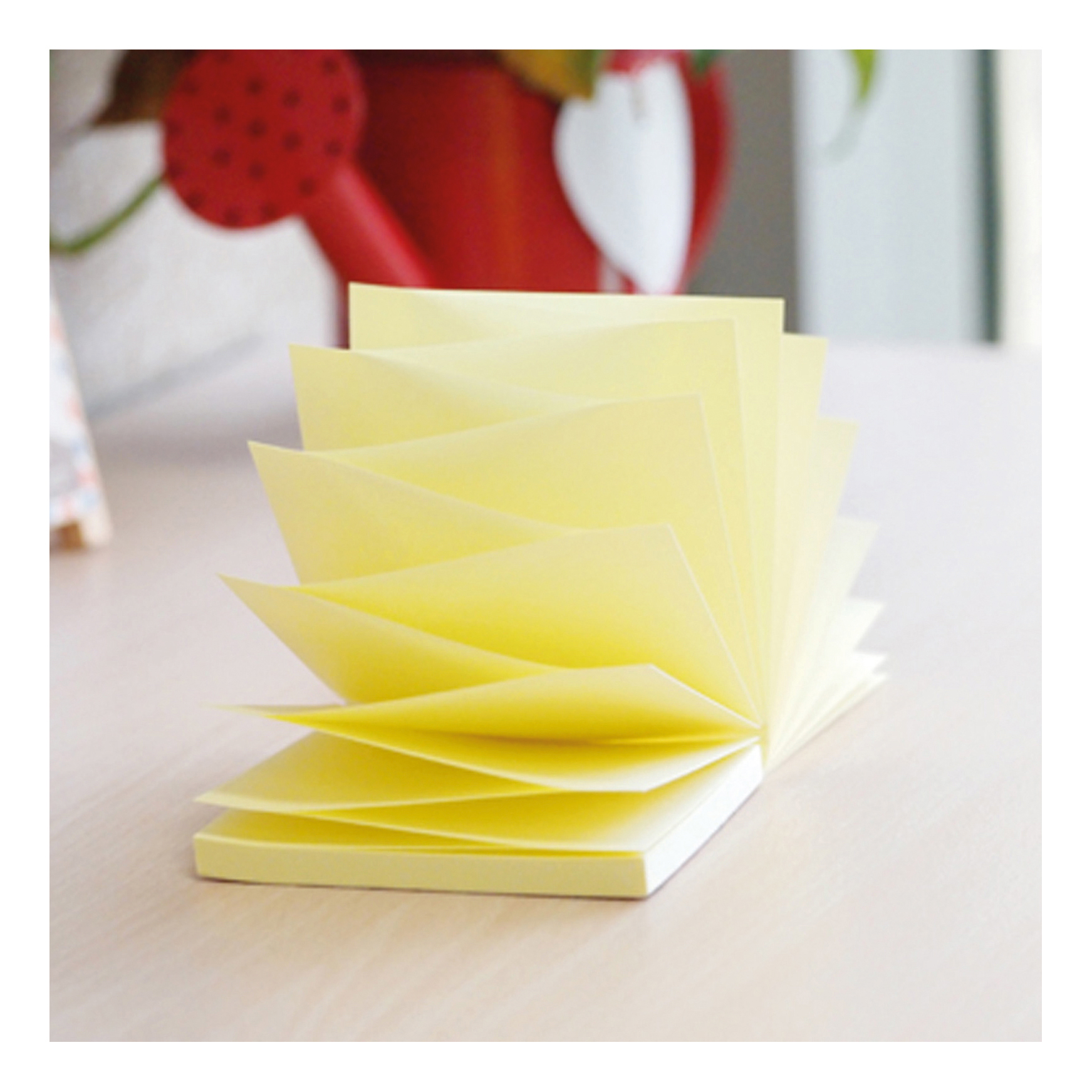 5 Star Office Re-Move Notes Concertina Pad of 100 Sheets 76x76mm Yellow Pack 12