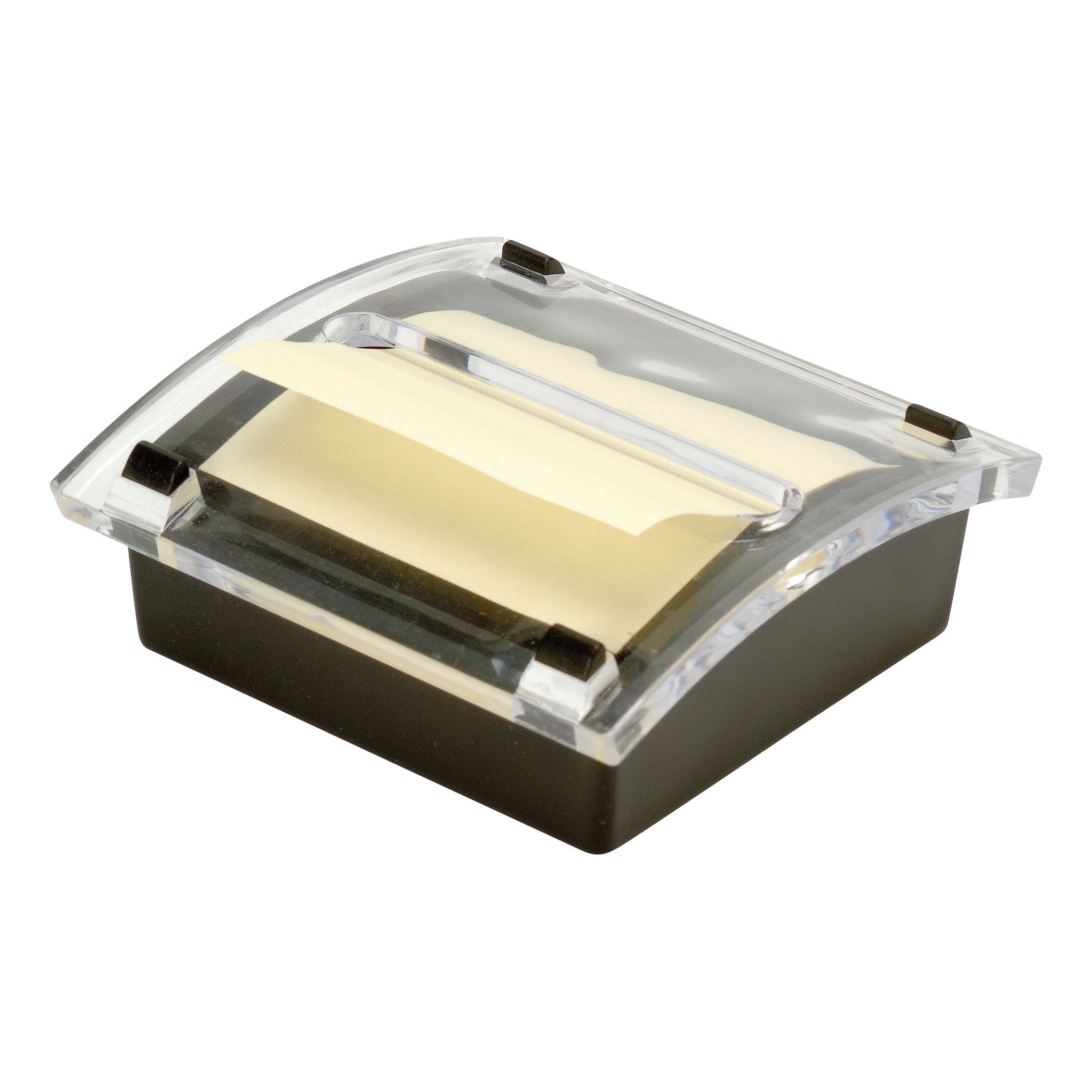 Z Notes 5 Star Office Re-Move Concertina Note Dispenser Acrylic-topped with FREE Pad for 76x76mm Notes