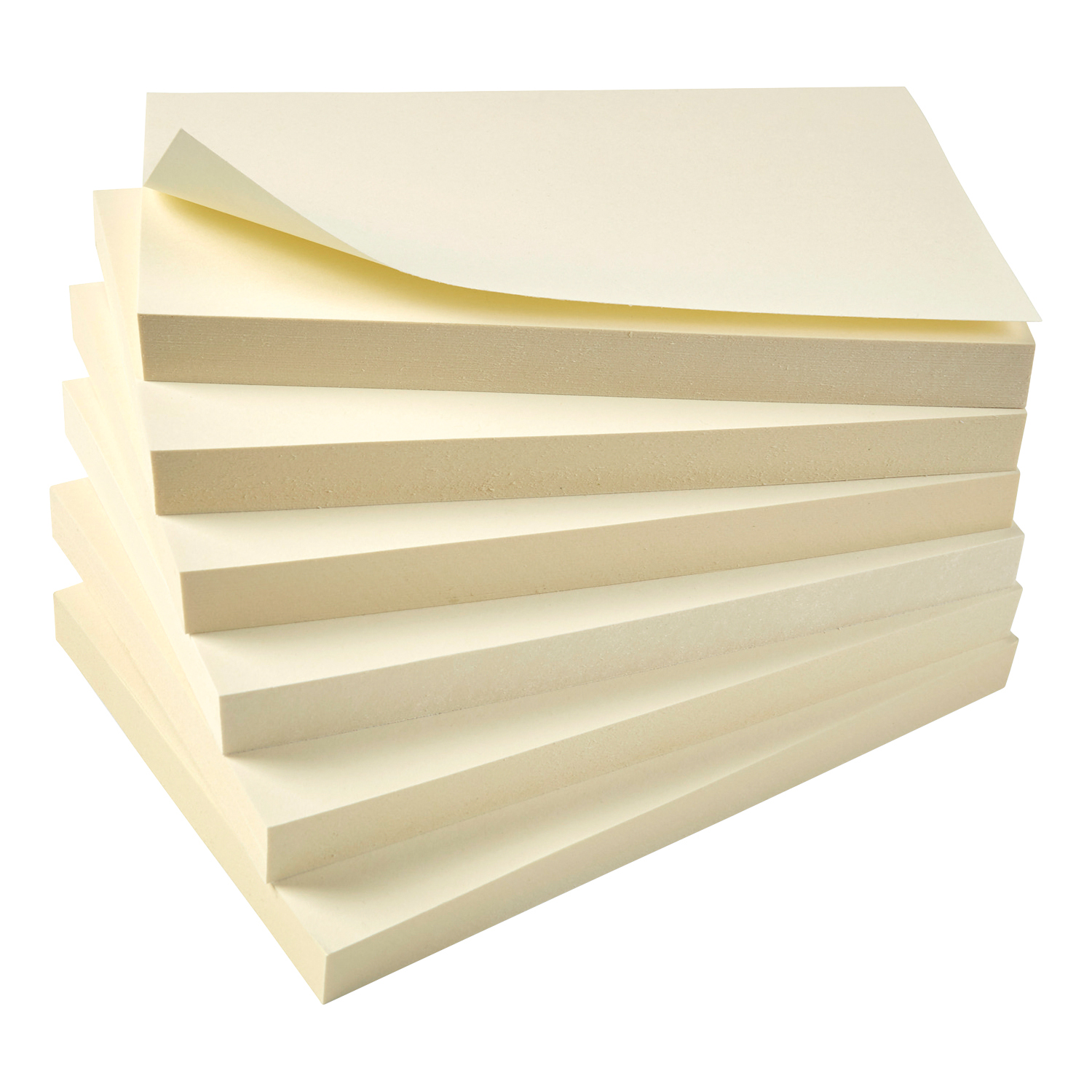 Recycled 5 Star Eco Re-Move Recycled Notes Repositionable Pad of 100 Sheets 76x127mm Yellow [Pack 12]