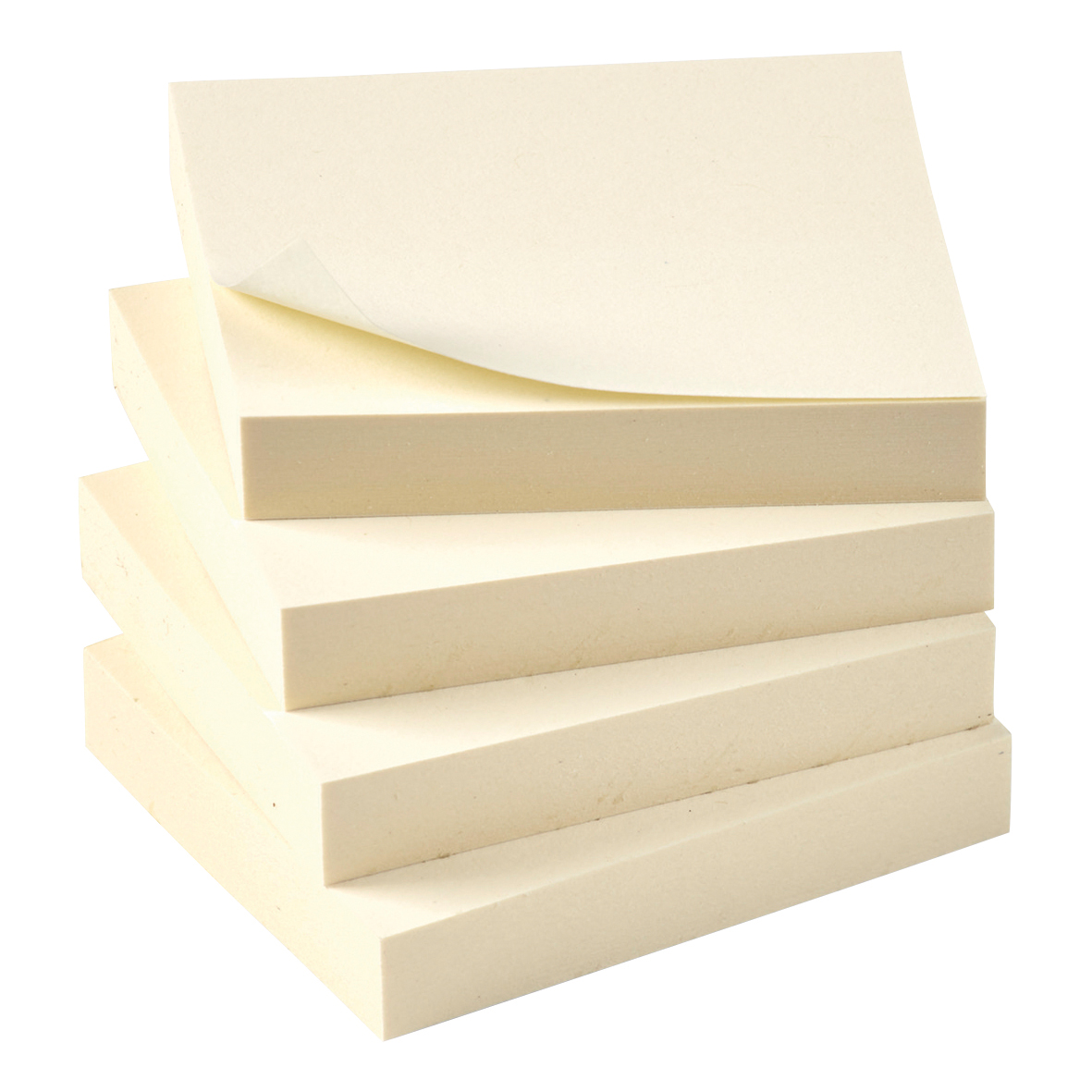 5 Star Eco Recycled Notes 38x51mm Yellow [Pack 12]