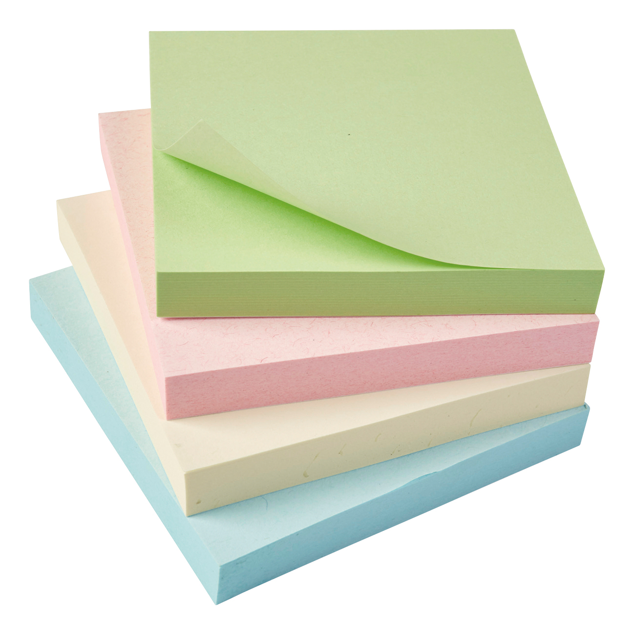 Recycled 5 Star Eco Repositionable Notes 76x76mm Re-Move Pastel Pack 12